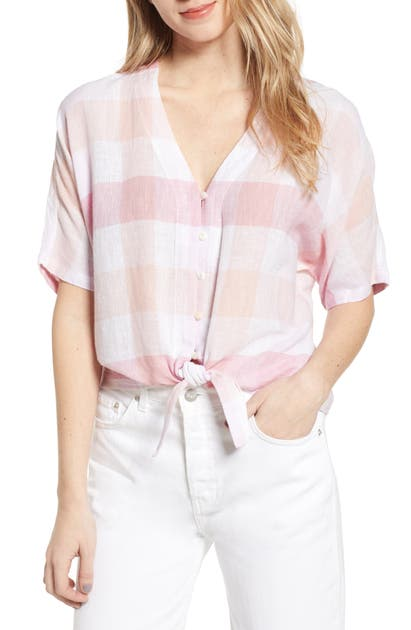 Rails Tops THEA TIE WAIST BLOUSE