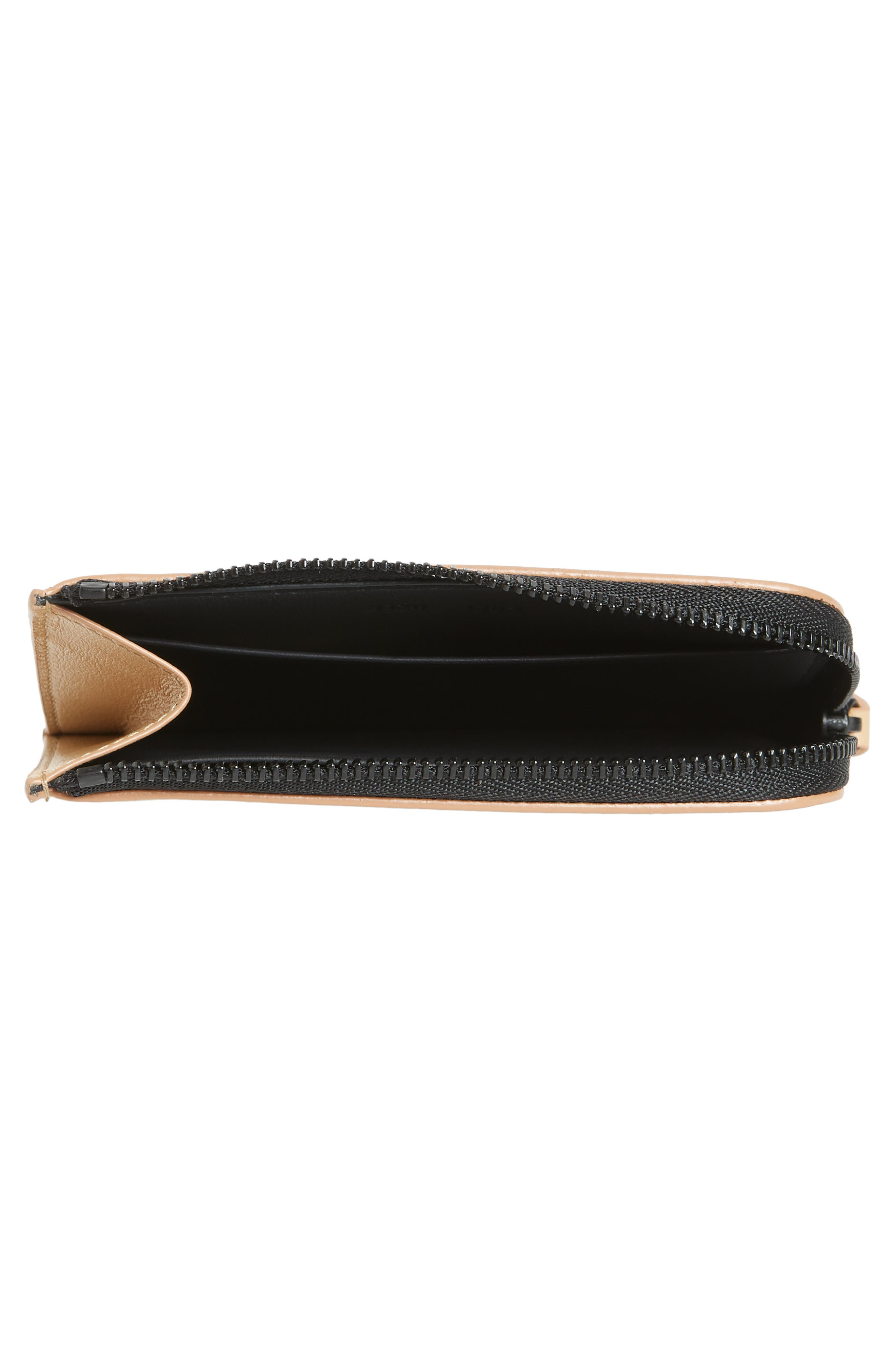 COMMON PROJECTS, Nappa Leather Zip Wallet, Alternate thumbnail 2, color, TAN