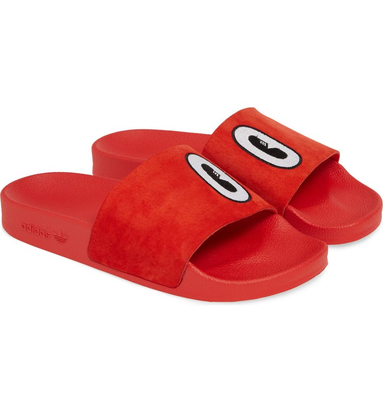 017c8b13fc1 Adidas Originals  Adilette  Slide Sandal In Active Red  White  Core Black