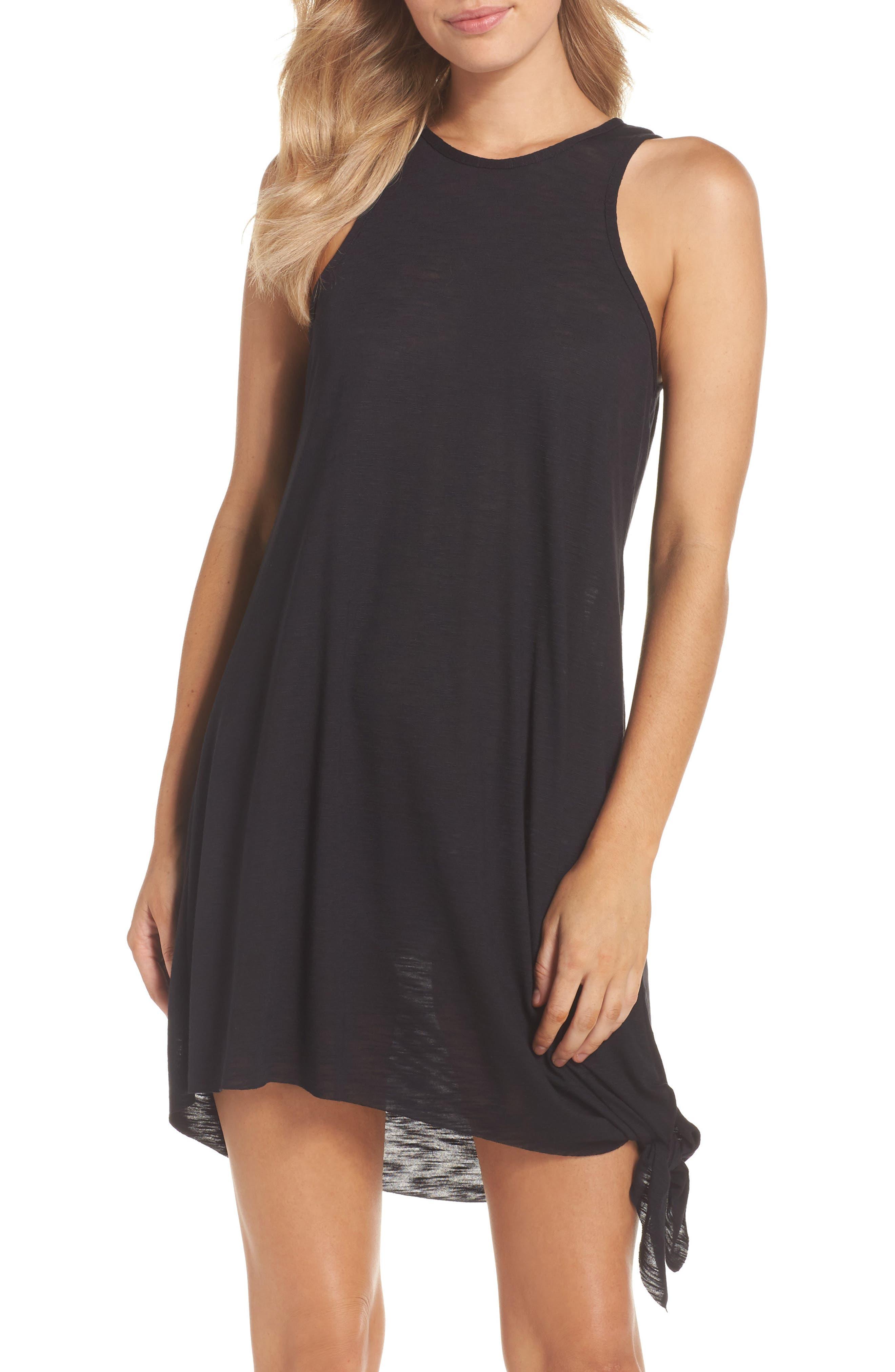BECCA Breezy Basics Cover-Up Dress, Main, color, BLACK
