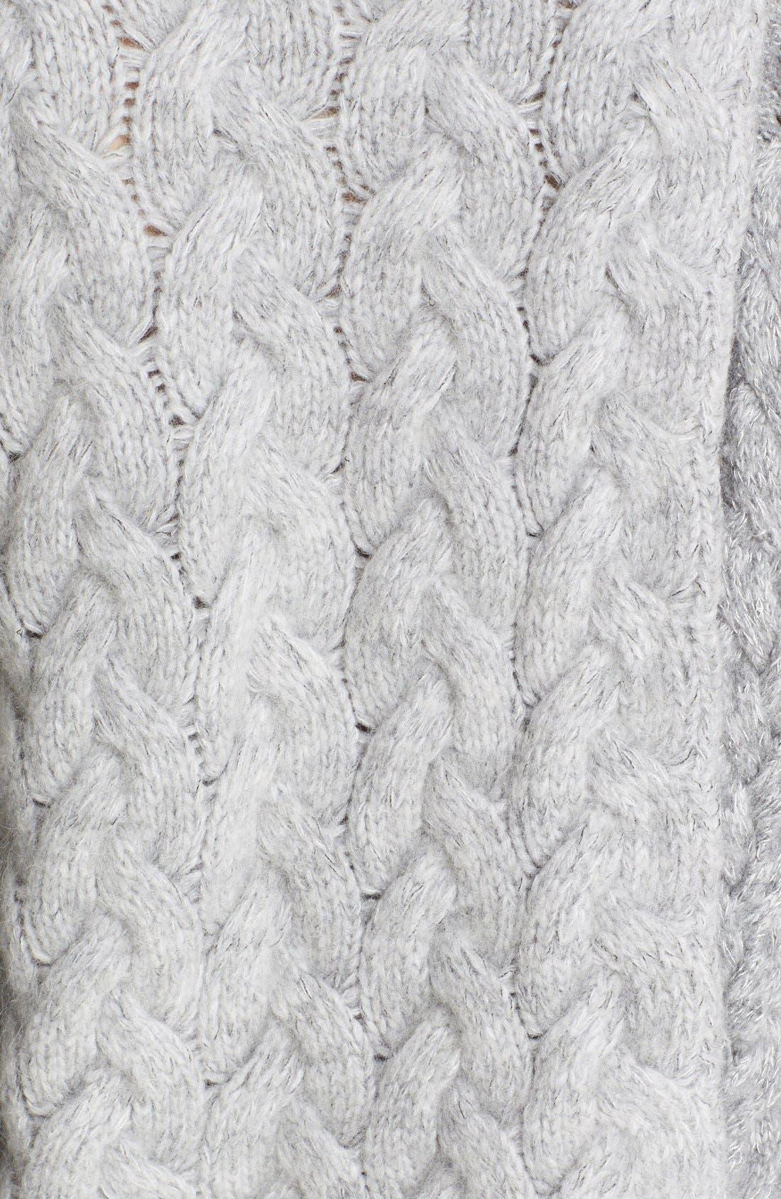STELLA MCCARTNEY, Mixed Media Turtleneck Sweater, Alternate thumbnail 5, color, 120