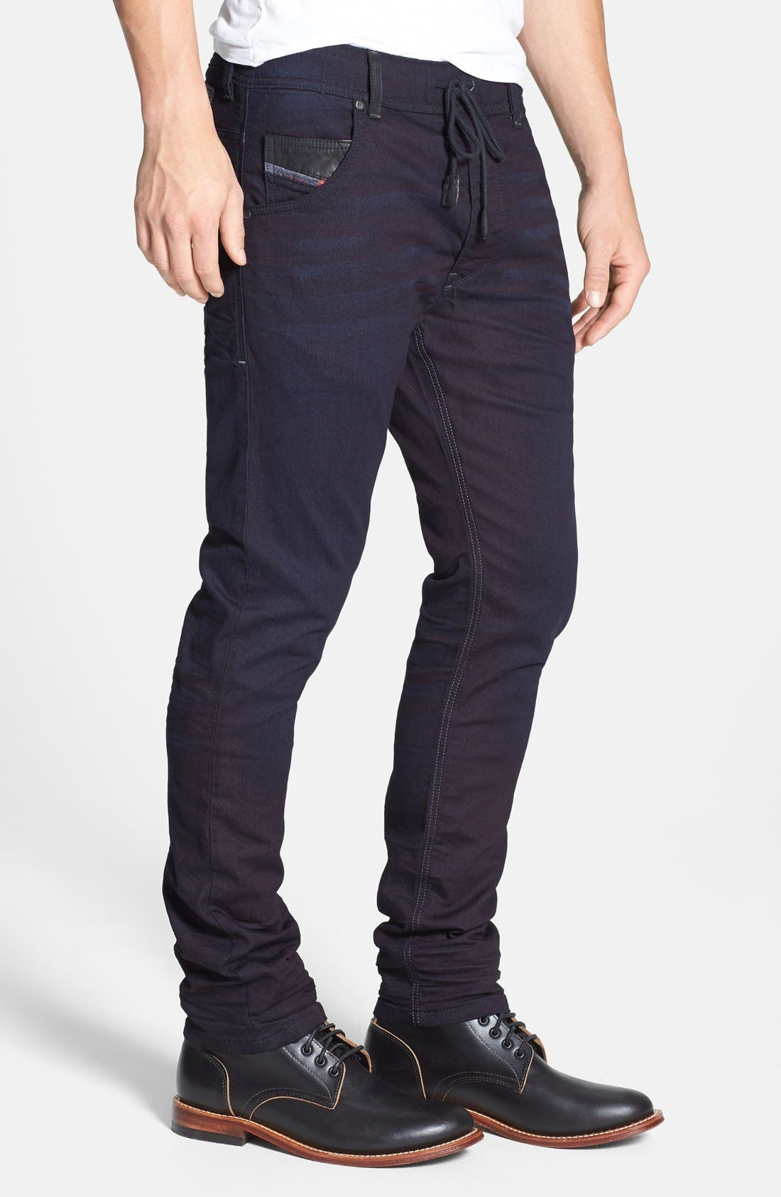 DIESEL<SUP>®</SUP>, Krooley Jogg Slouchy Skinny Fit Jeans, Alternate thumbnail 5, color, 0829P