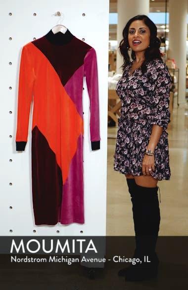 Velluto Velour Midi Dress, sales video thumbnail