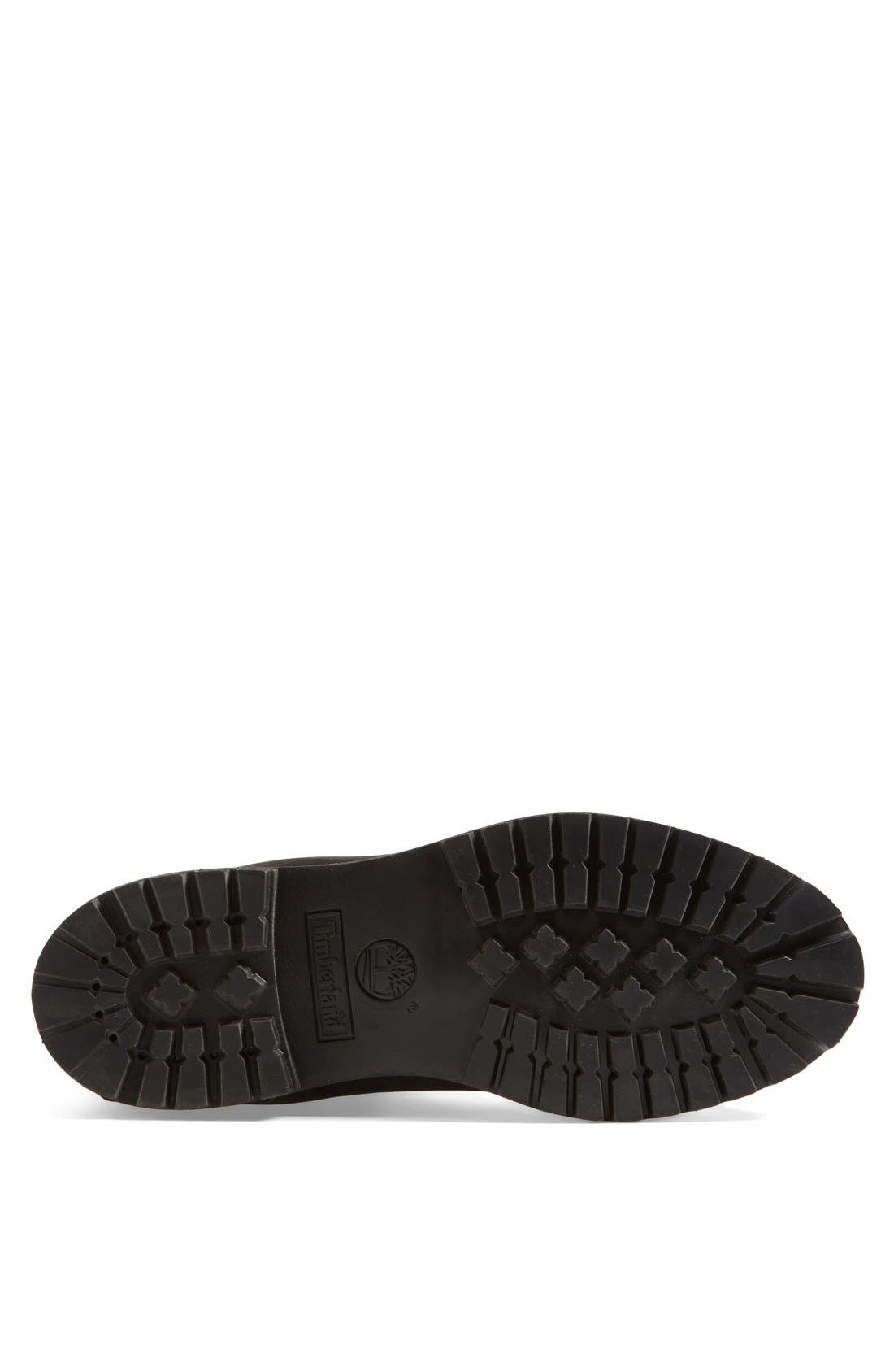 TIMBERLAND, Six Inch Classic Waterproof Boots - Premium Waterproof Boot, Alternate thumbnail 4, color, BLACK