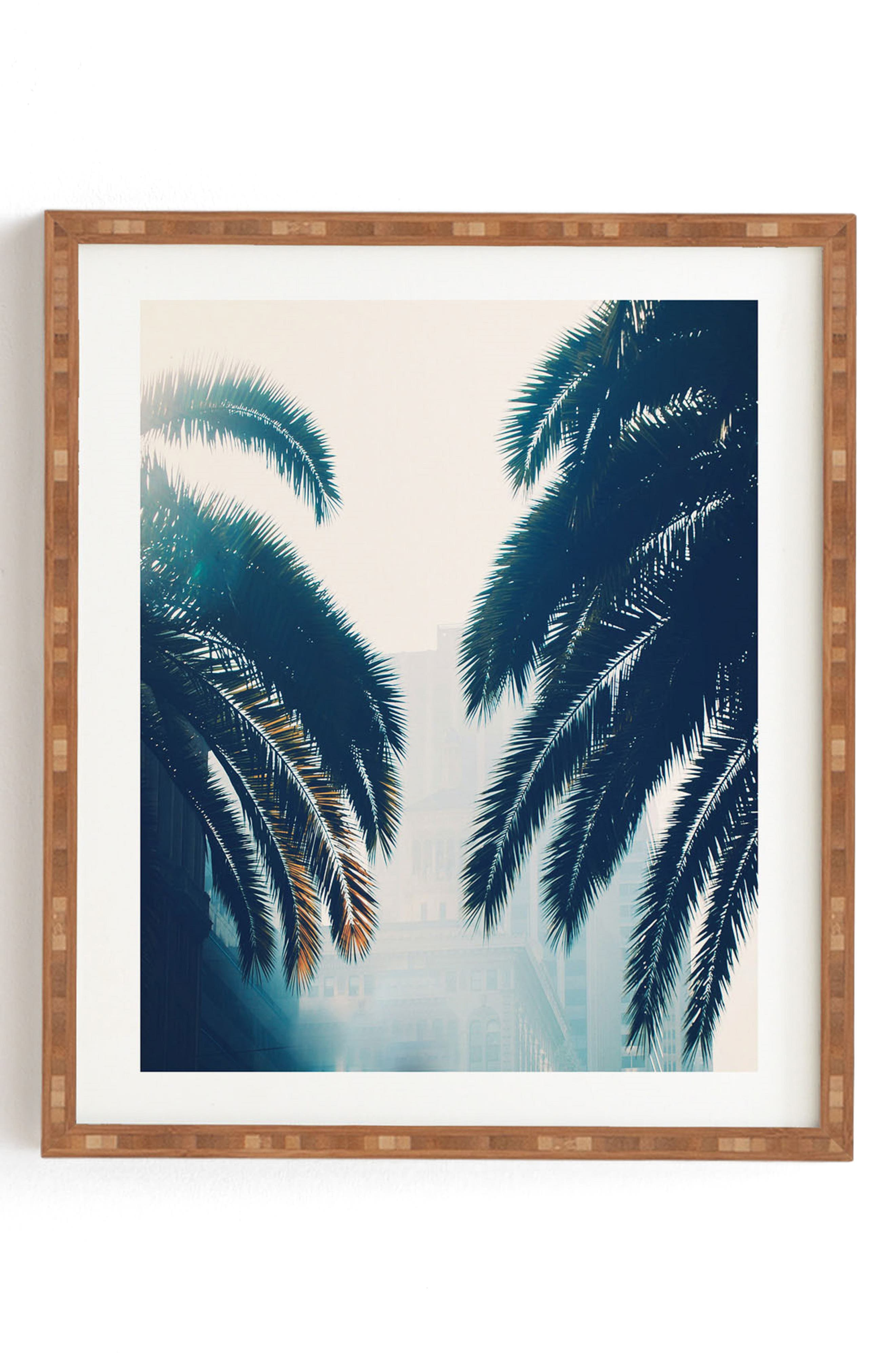 DENY DESIGNS, Chelsea Victoria - California Blue Framed Wall Art, Main thumbnail 1, color, BLUE