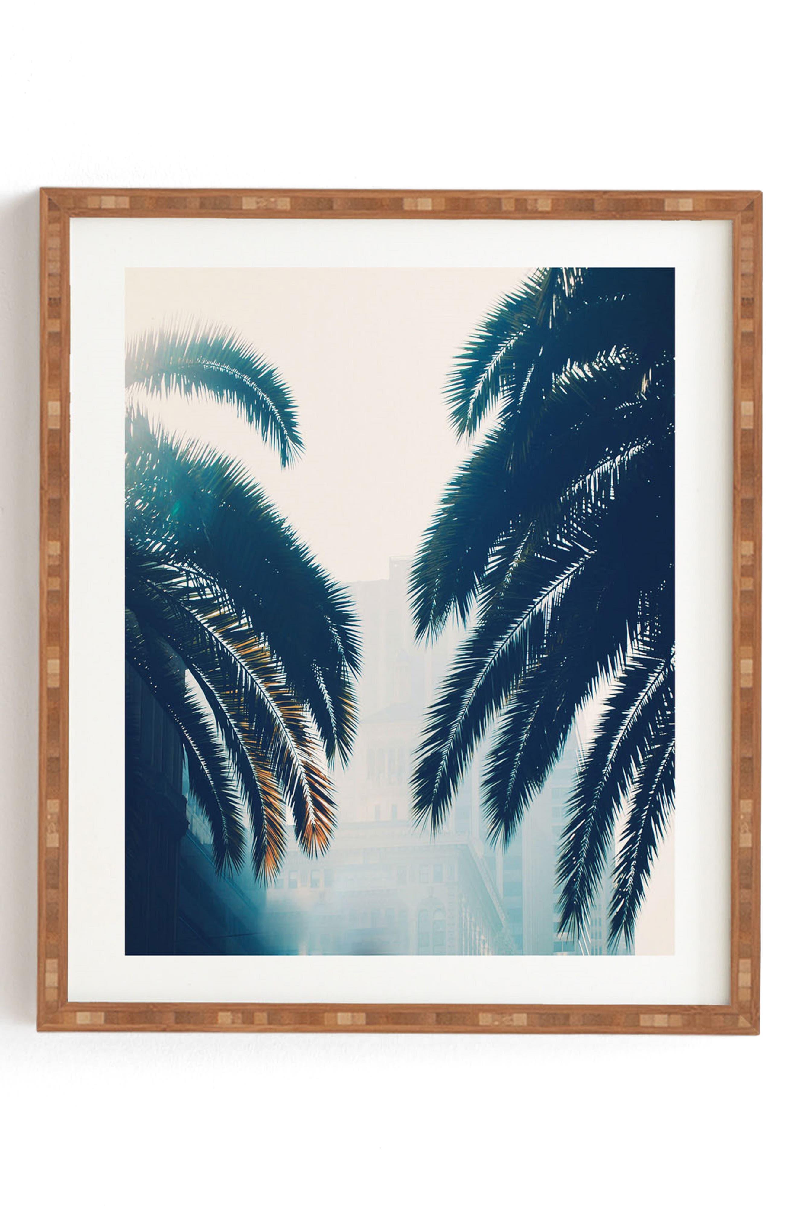 DENY DESIGNS Chelsea Victoria - California Blue Framed Wall Art, Main, color, BLUE