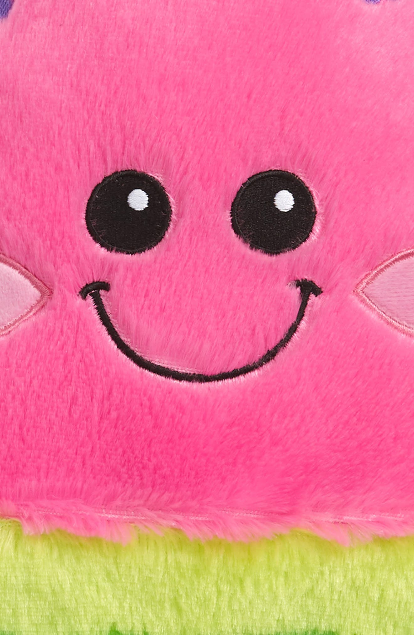 ISCREAM, Watermelon Scented Furry Pillow, Alternate thumbnail 3, color, PINK