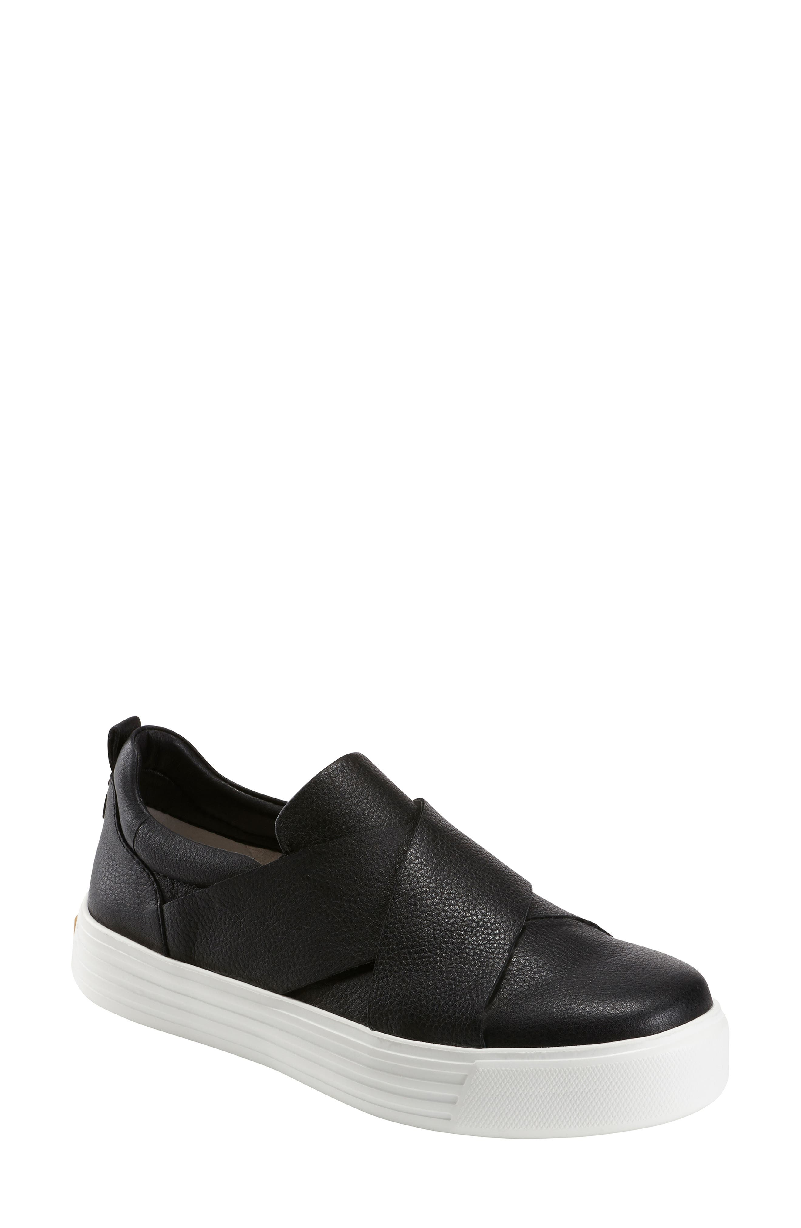 EARTH<SUP>®</SUP> Clary Sneaker, Main, color, BLACK LEATHER