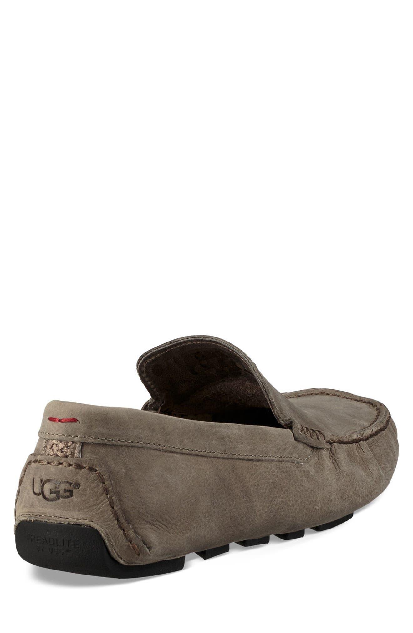 UGG<SUP>®</SUP>, 'Henrick' Driving Shoe, Alternate thumbnail 2, color, PUMICE