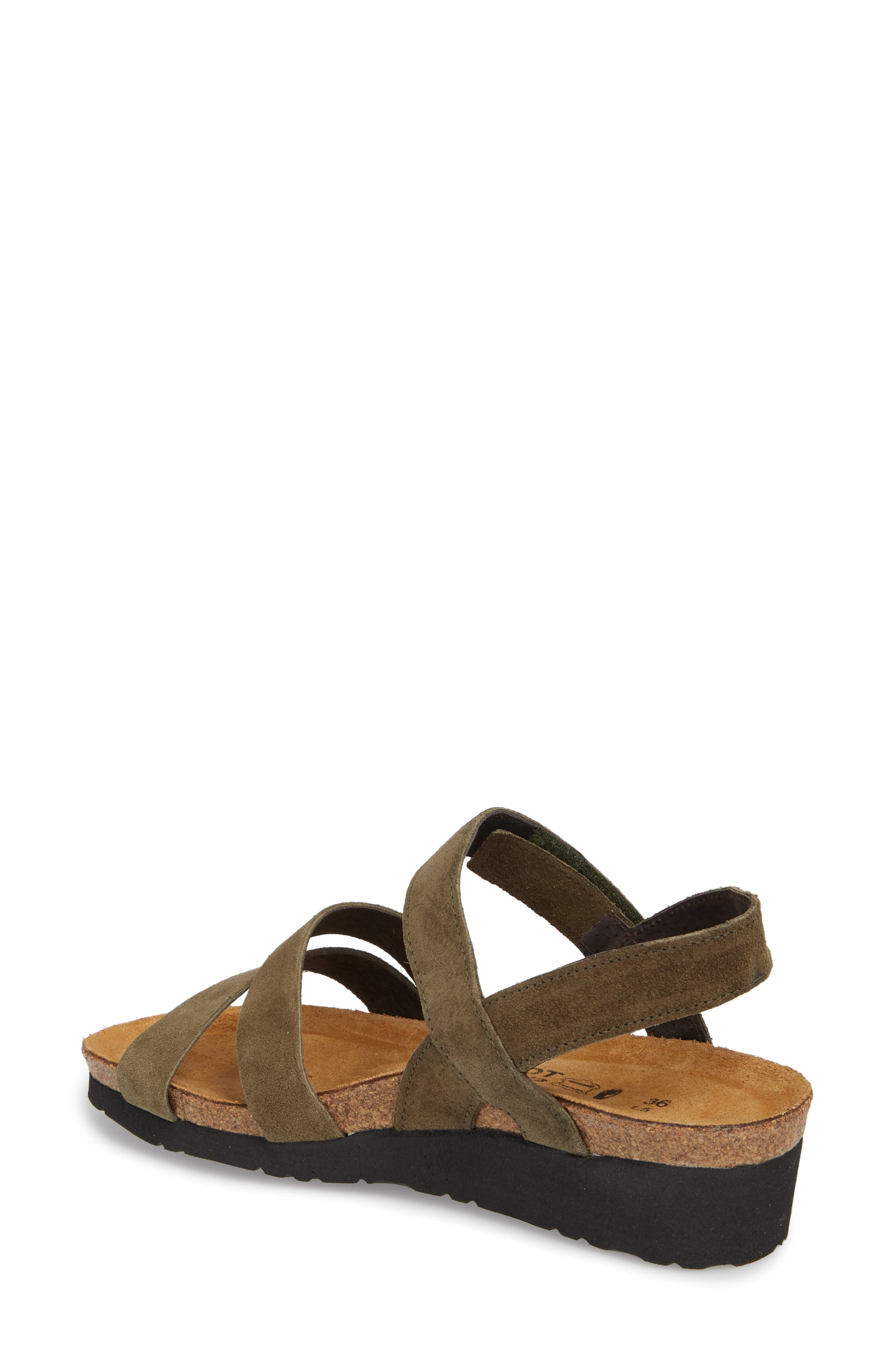 NAOT, 'Kayla' Sandal, Alternate thumbnail 2, color, OILY OLIVE SUEDE