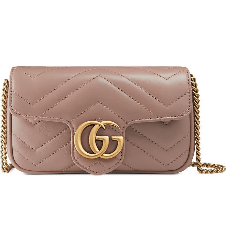 4abfa957b85 Gucci Supermini GG Marmont 2.0 Matelassé Leather Shoulder Bag ...