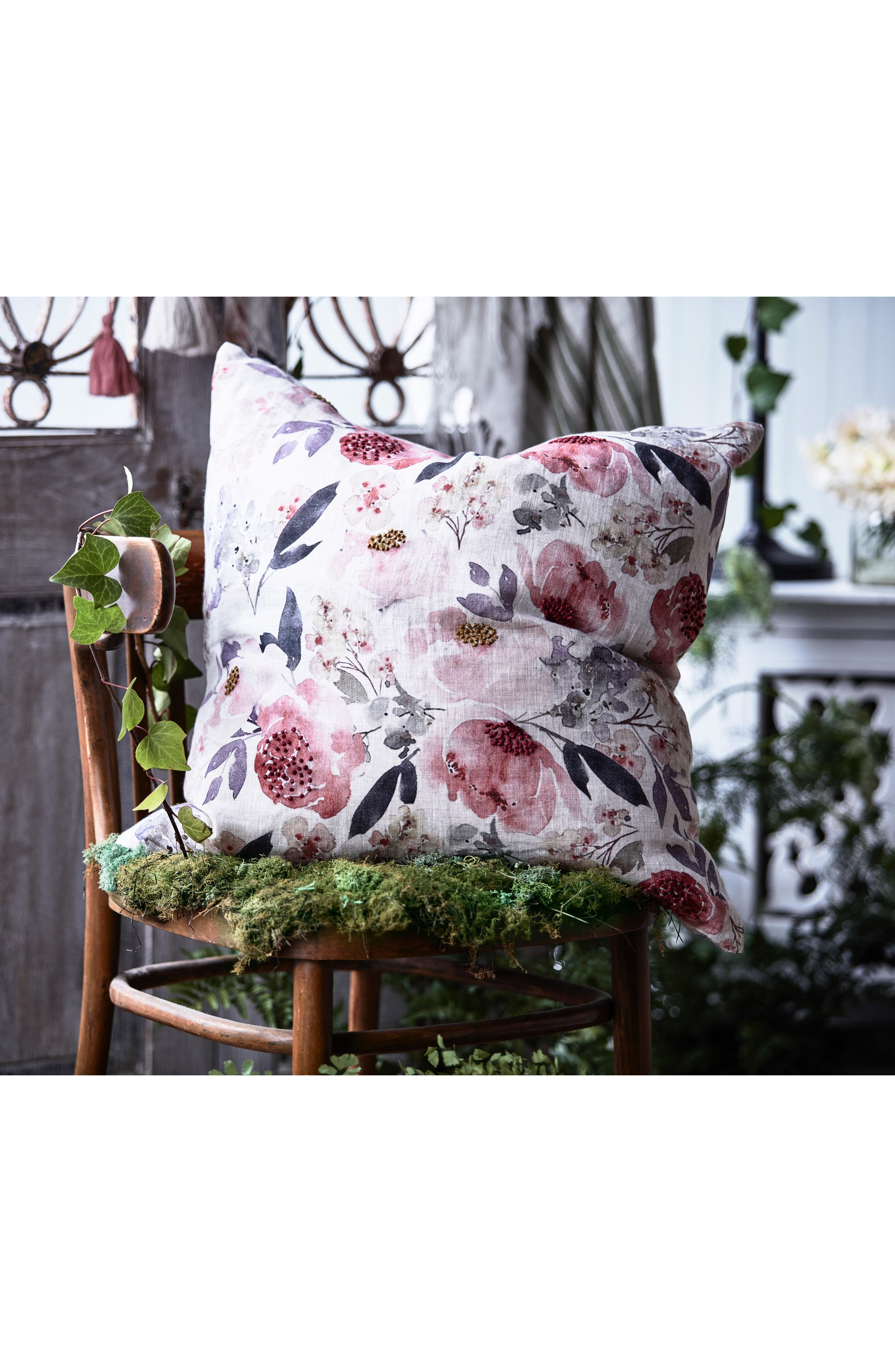 EADIE LIFESTYLE, Posy Scatter Accent Pillow, Alternate thumbnail 2, color, MUSK MULTI