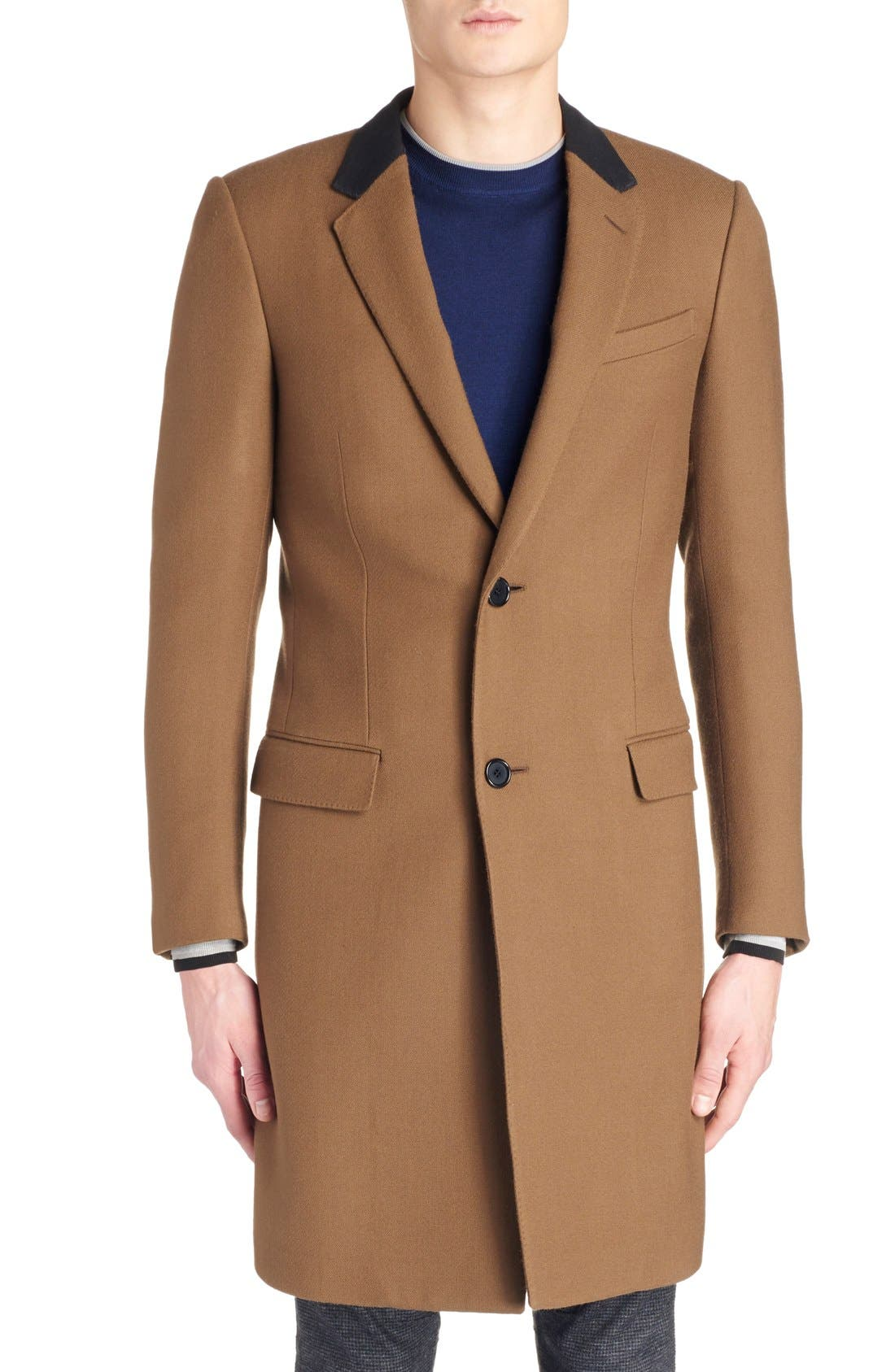 LANVIN, Wool Overcoat, Alternate thumbnail 2, color, 230