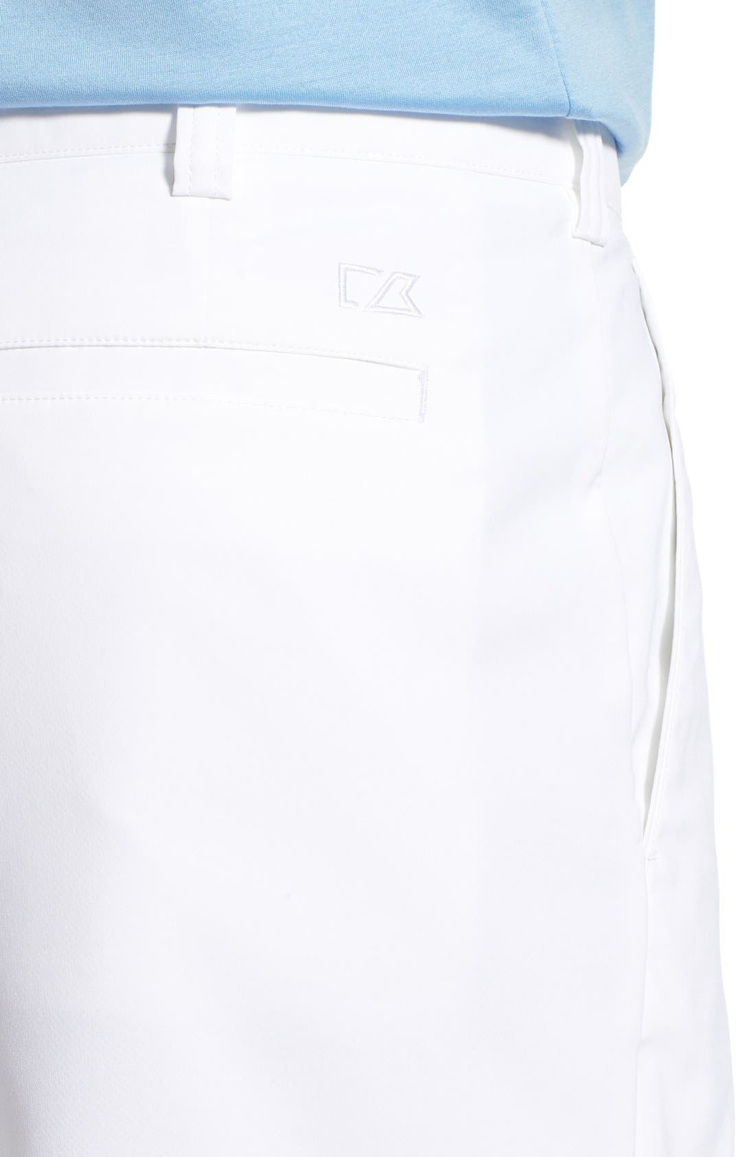 CUTTER & BUCK, DryTec Shorts, Alternate thumbnail 3, color, WHITE