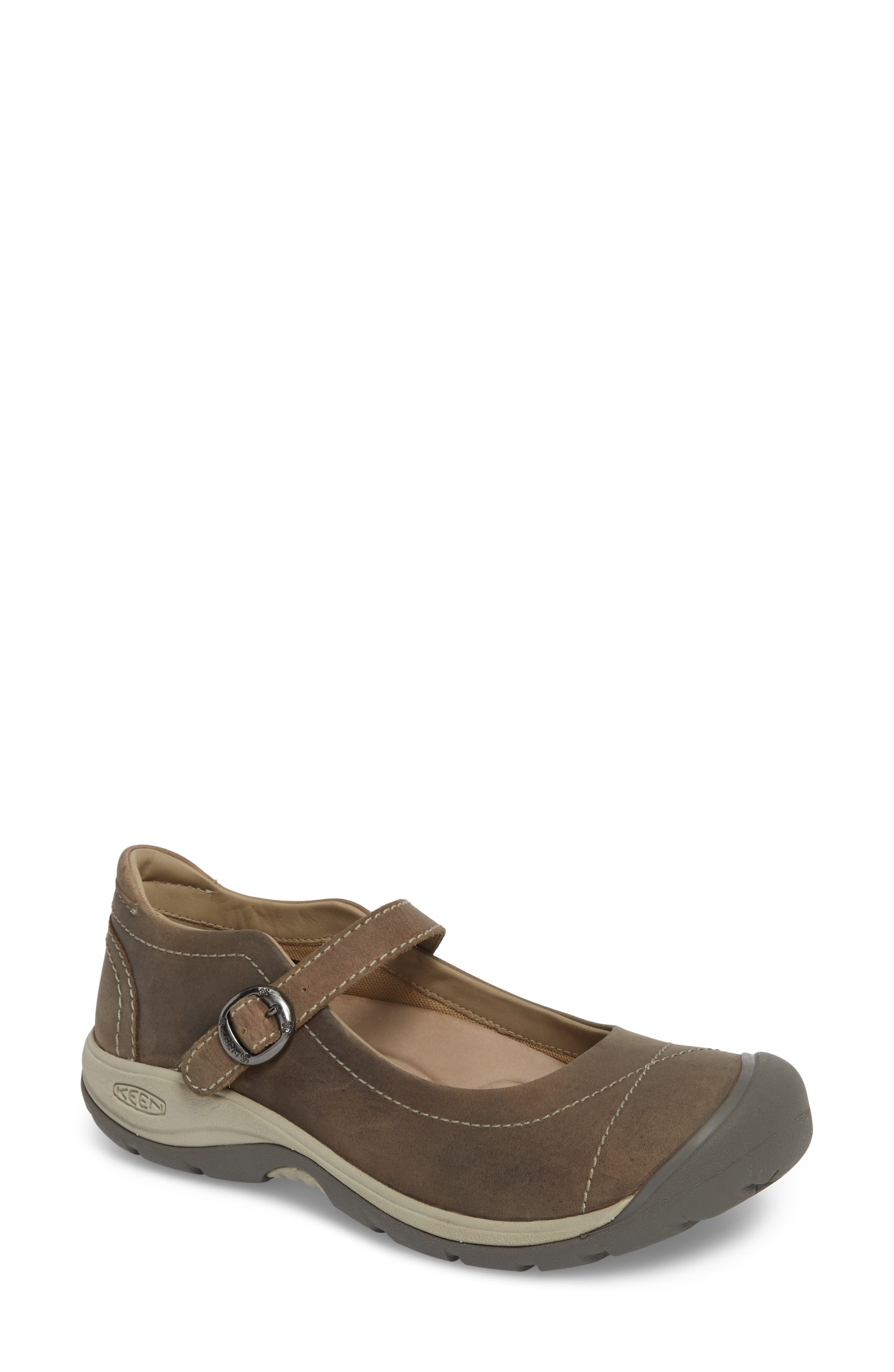 KEEN, Presidio II Mary Jane Flat, Main thumbnail 1, color, PALOMA/ SILVER BIRCH LEATHER