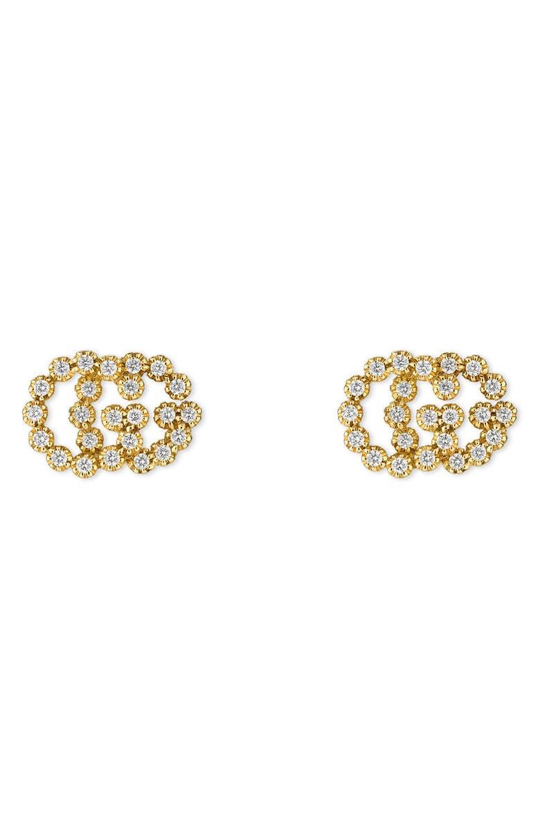 1e54c783bc6 Gucci Double-G Diamond Stud Earrings