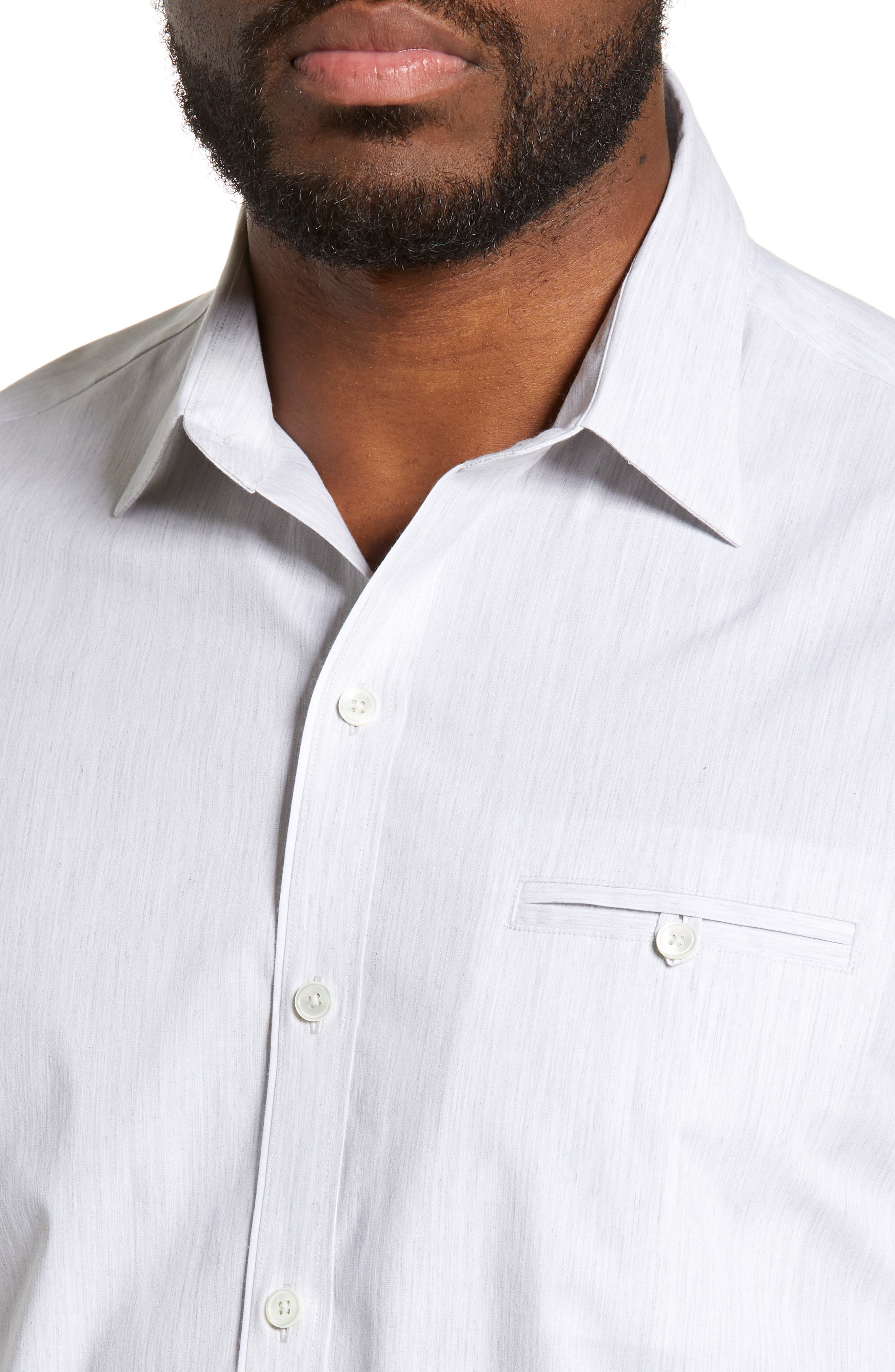 ZACHARY PRELL, Baumann Regular Fit Sport Shirt, Alternate thumbnail 2, color, GREY