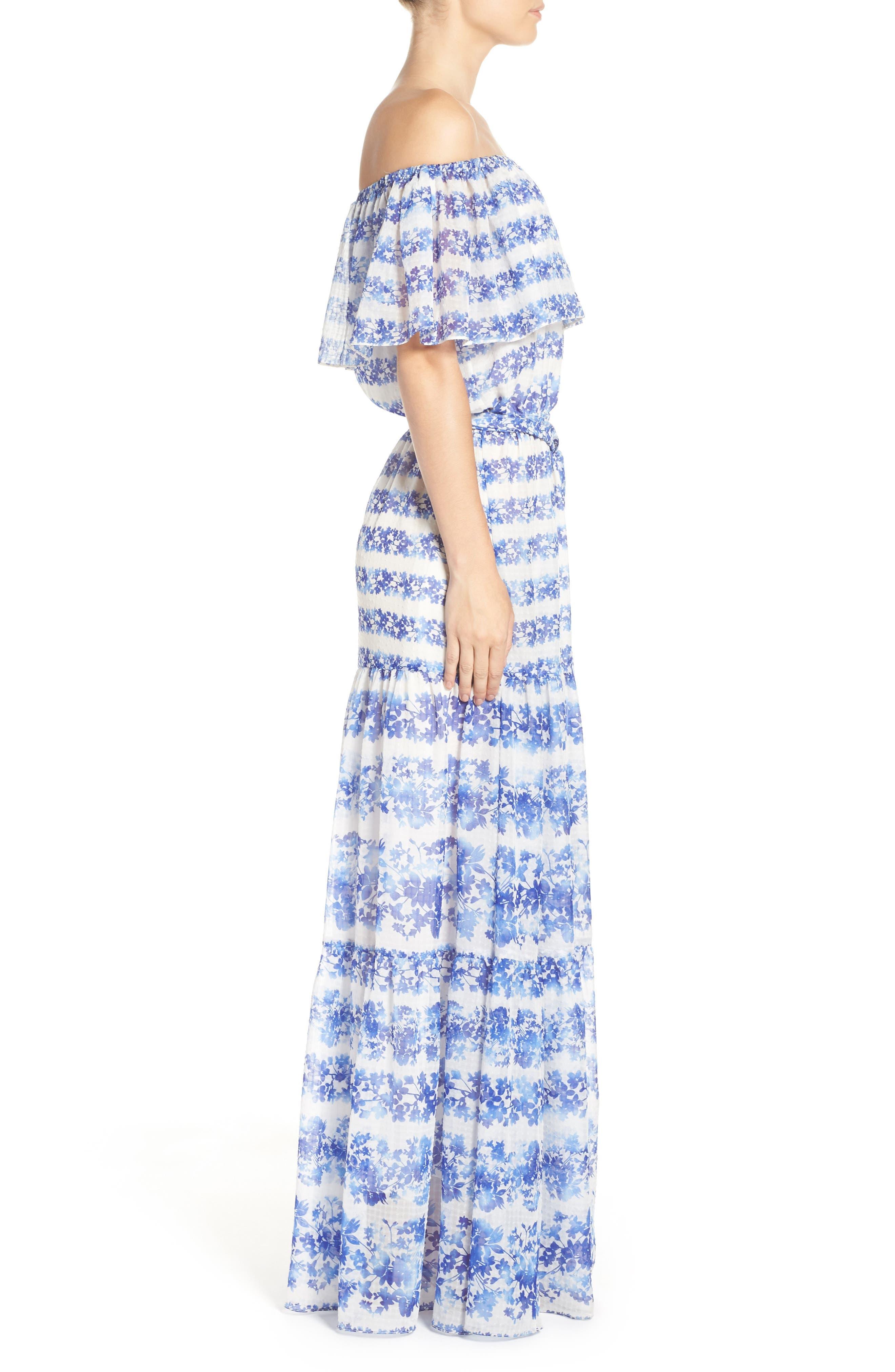 ELIZA J, Blouson Maxi Dress, Alternate thumbnail 3, color, 442