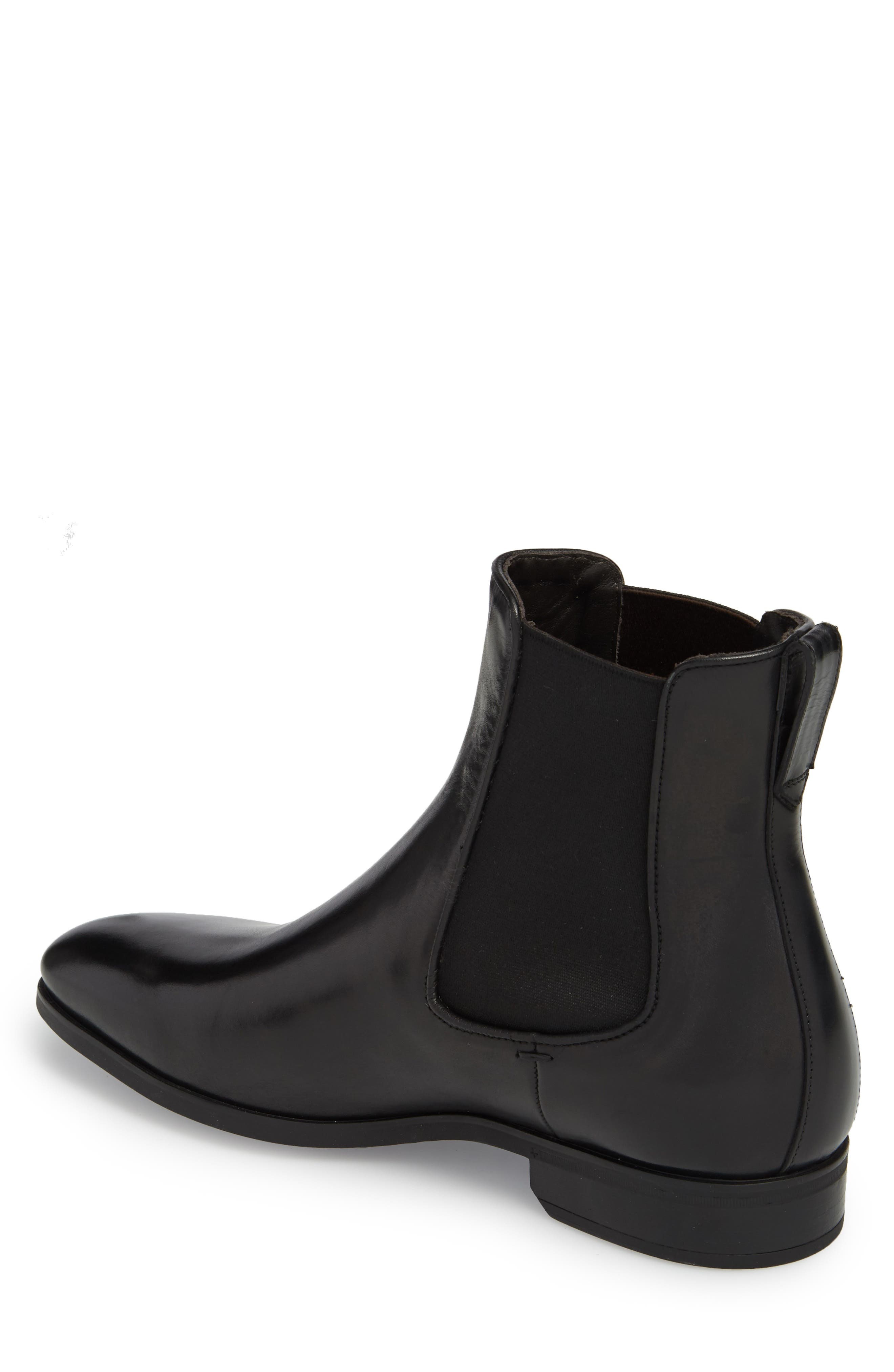 TO BOOT NEW YORK, Aldrich Mid Chelsea Boot, Alternate thumbnail 2, color, BLACK/ BLACK LEATHER