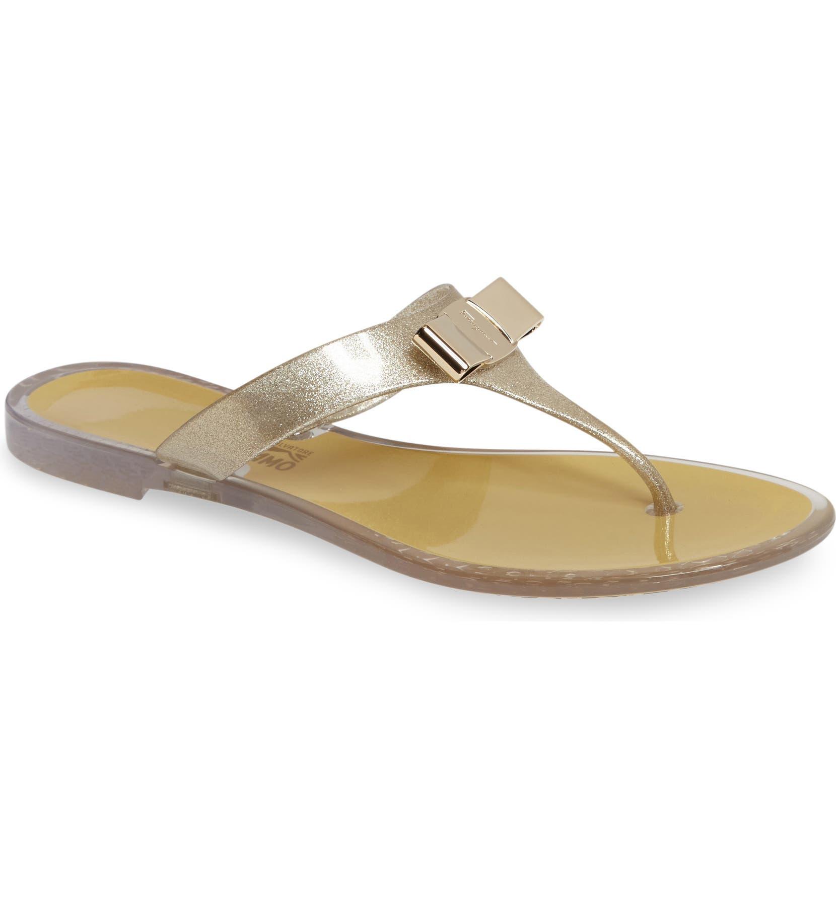 c47818113206 Salvatore Ferragamo Farelia Jelly Flat Bow Sandal (Women)