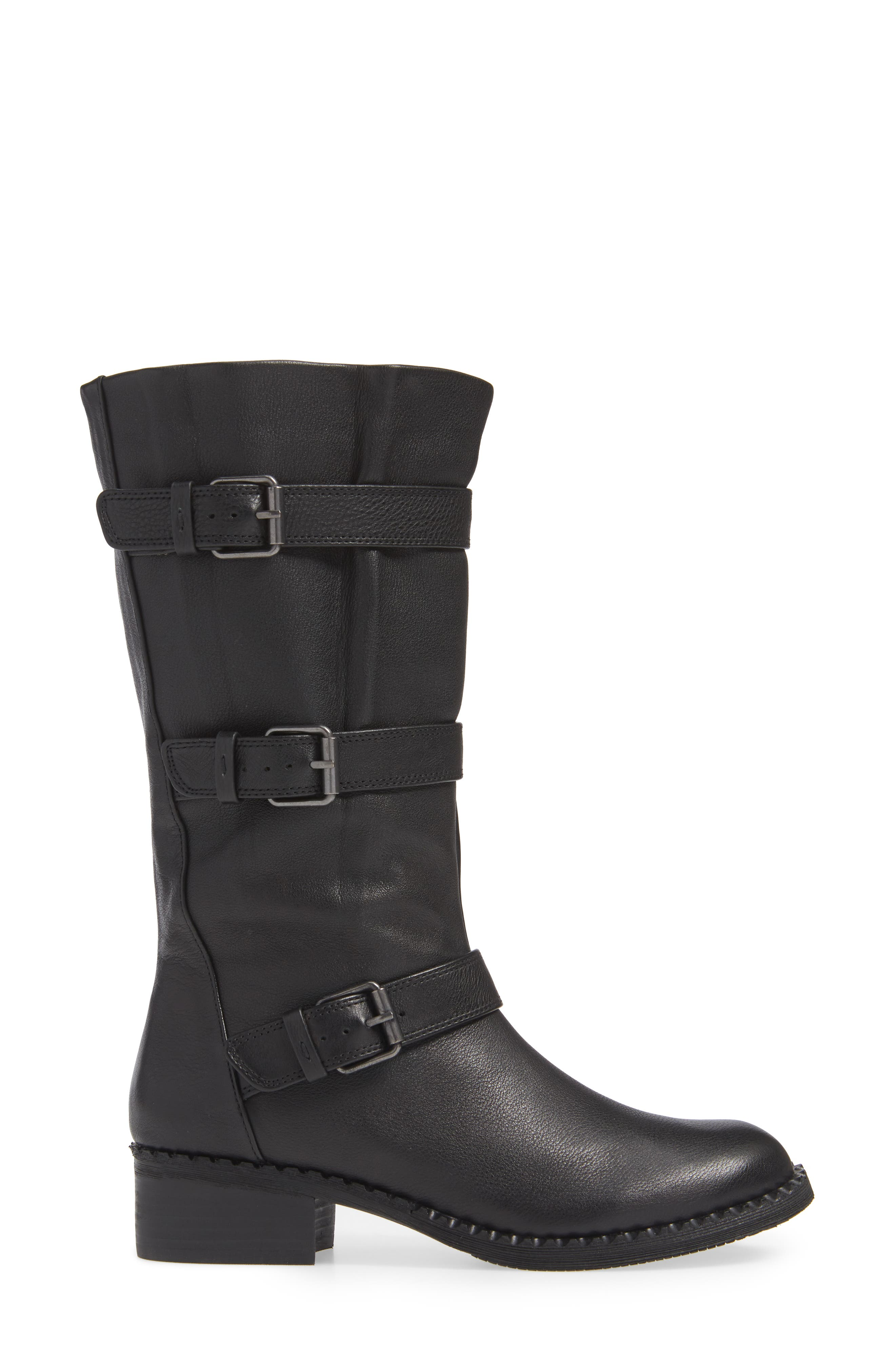 GENTLE SOULS BY KENNETH COLE, Best 3-Buckle Boot, Alternate thumbnail 3, color, 001