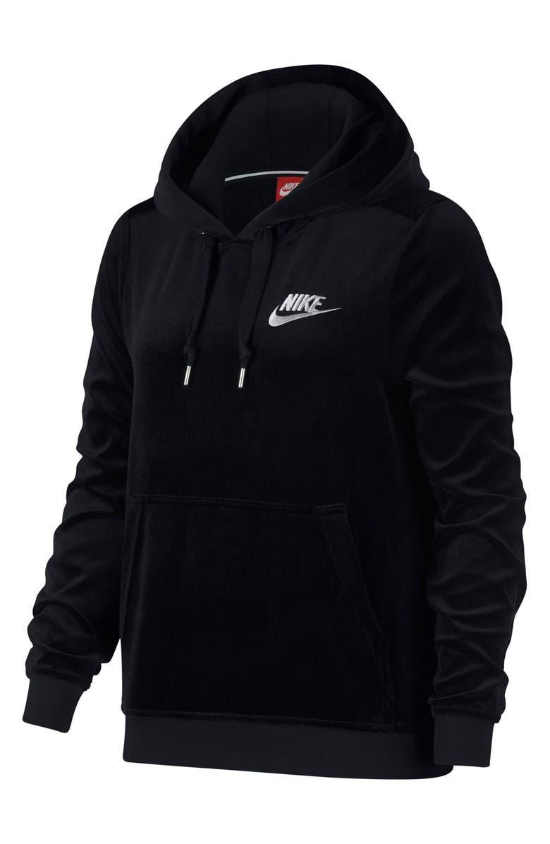 d102ff61cf5d Nike Sportswear Velour Pullover Hoodie