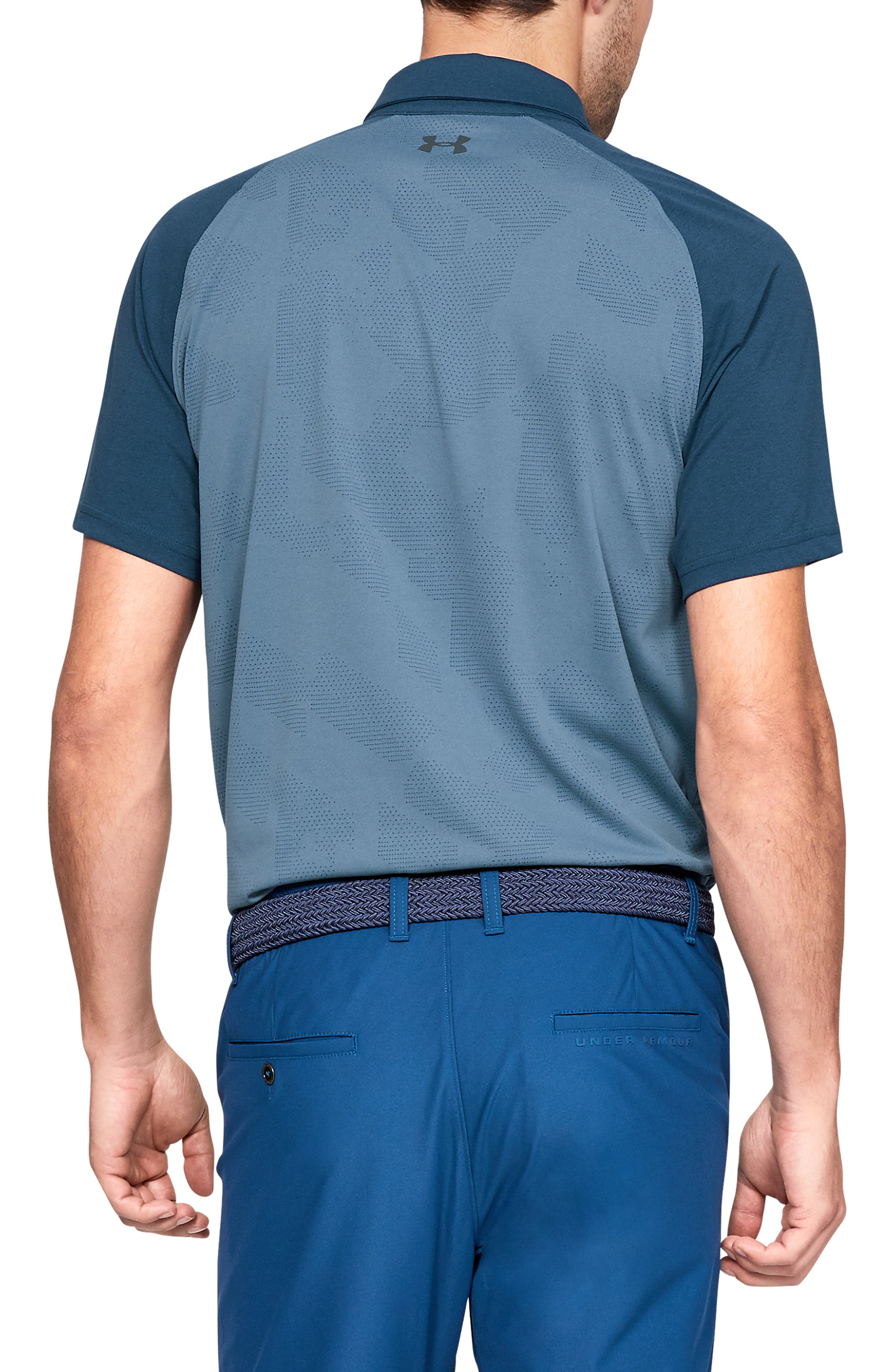 UNDER ARMOUR, Tour Tips Champion Loose Polo, Alternate thumbnail 2, color, THUNDER / / PITCH GRAY