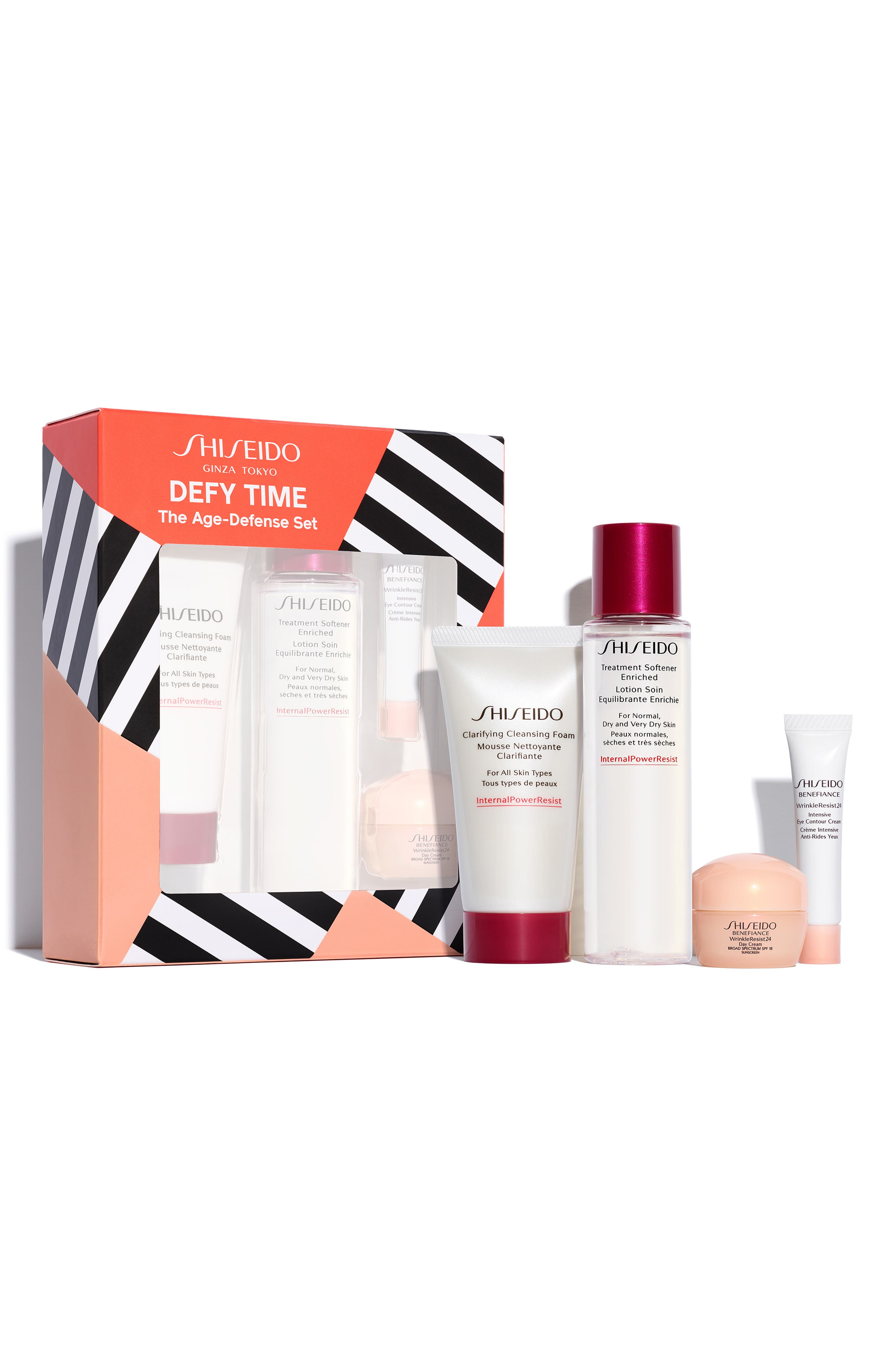 SHISEIDO, The Benefiance Age-Defense Set, Alternate thumbnail 2, color, NO COLOR