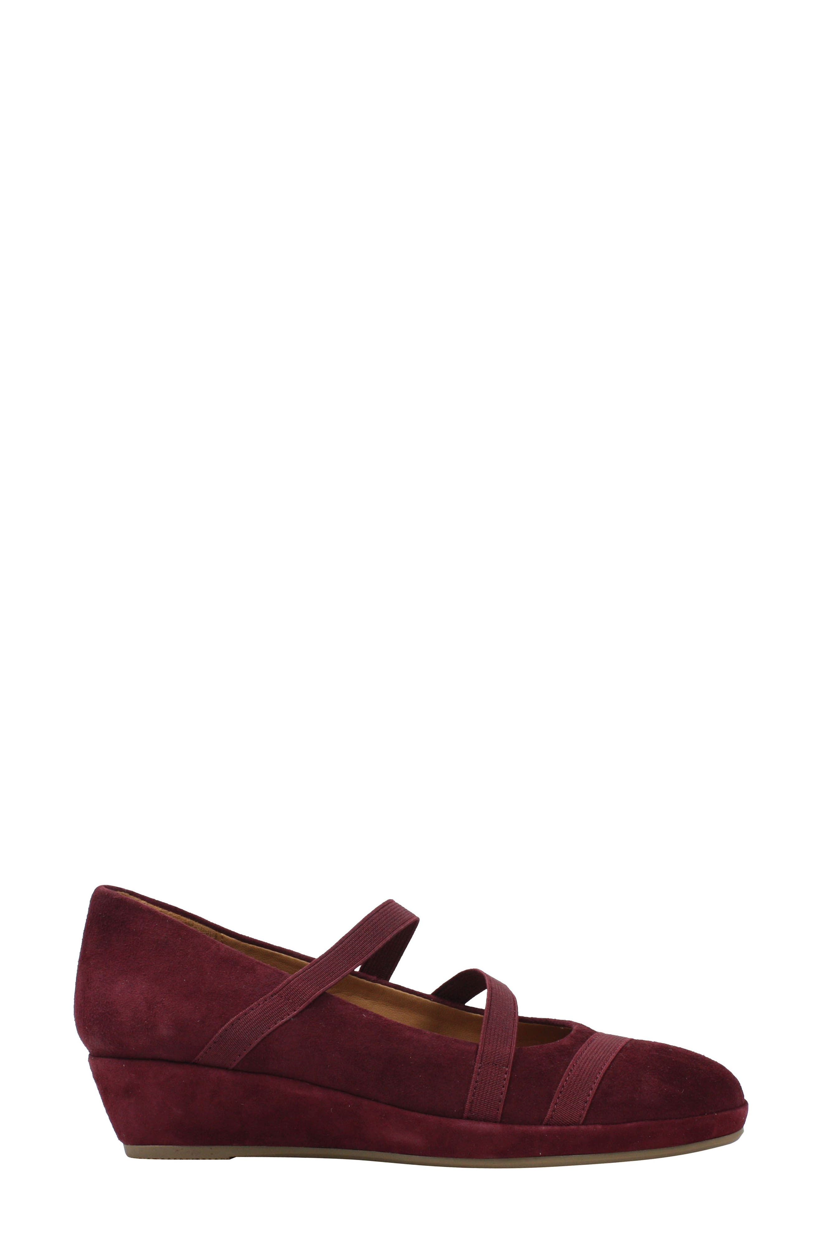 L'AMOUR DES PIEDS, Berency Wedge, Alternate thumbnail 3, color, MULBERRY SUEDE
