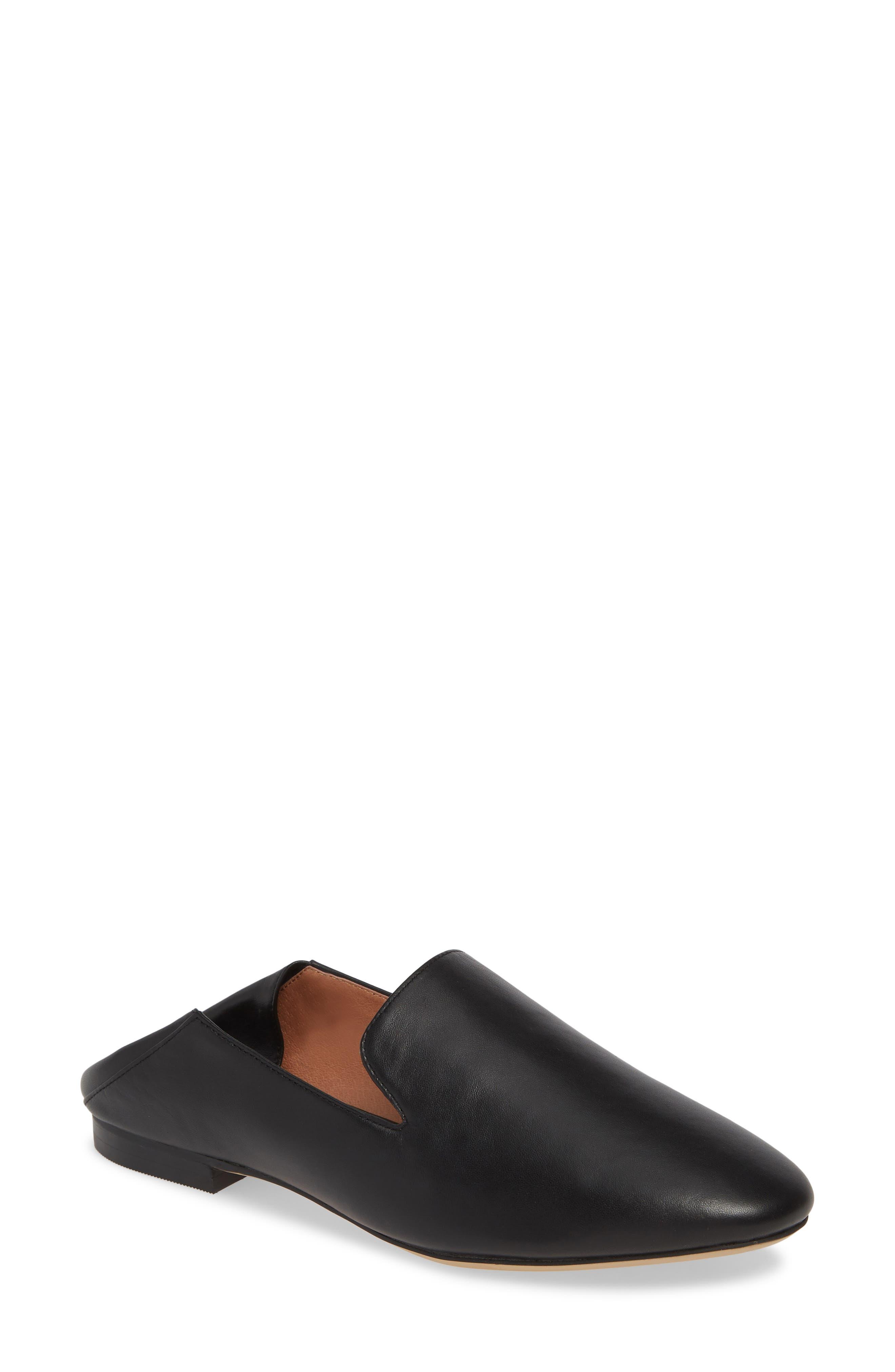 HALOGEN<SUP>®</SUP> Halogen Sabrina Collapsible Back Flat, Main, color, BLACK LEATHER