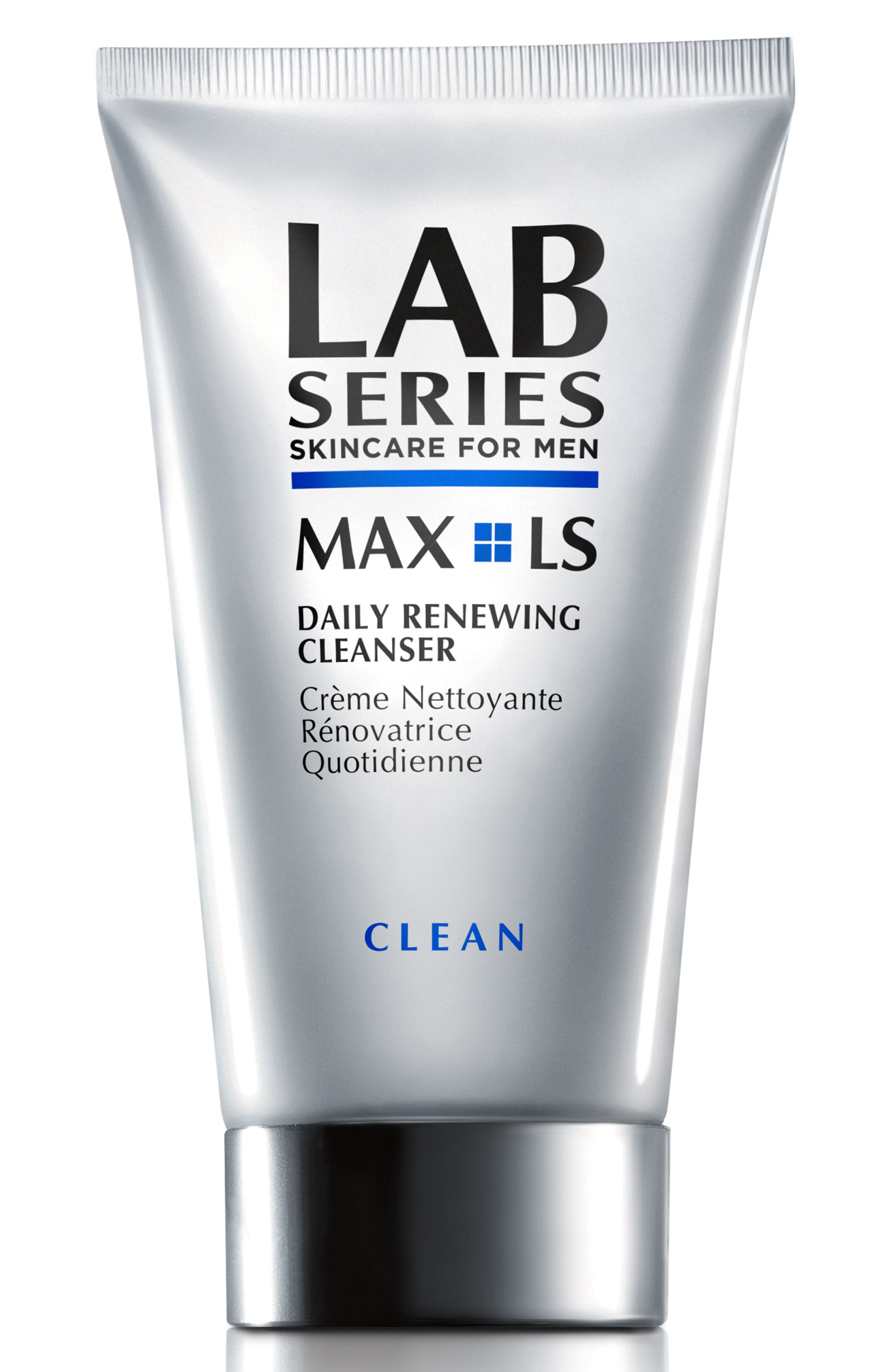 LAB SERIES SKINCARE FOR MEN, MAX LS Daily Renewing Cleanser, Main thumbnail 1, color, NO COLOR