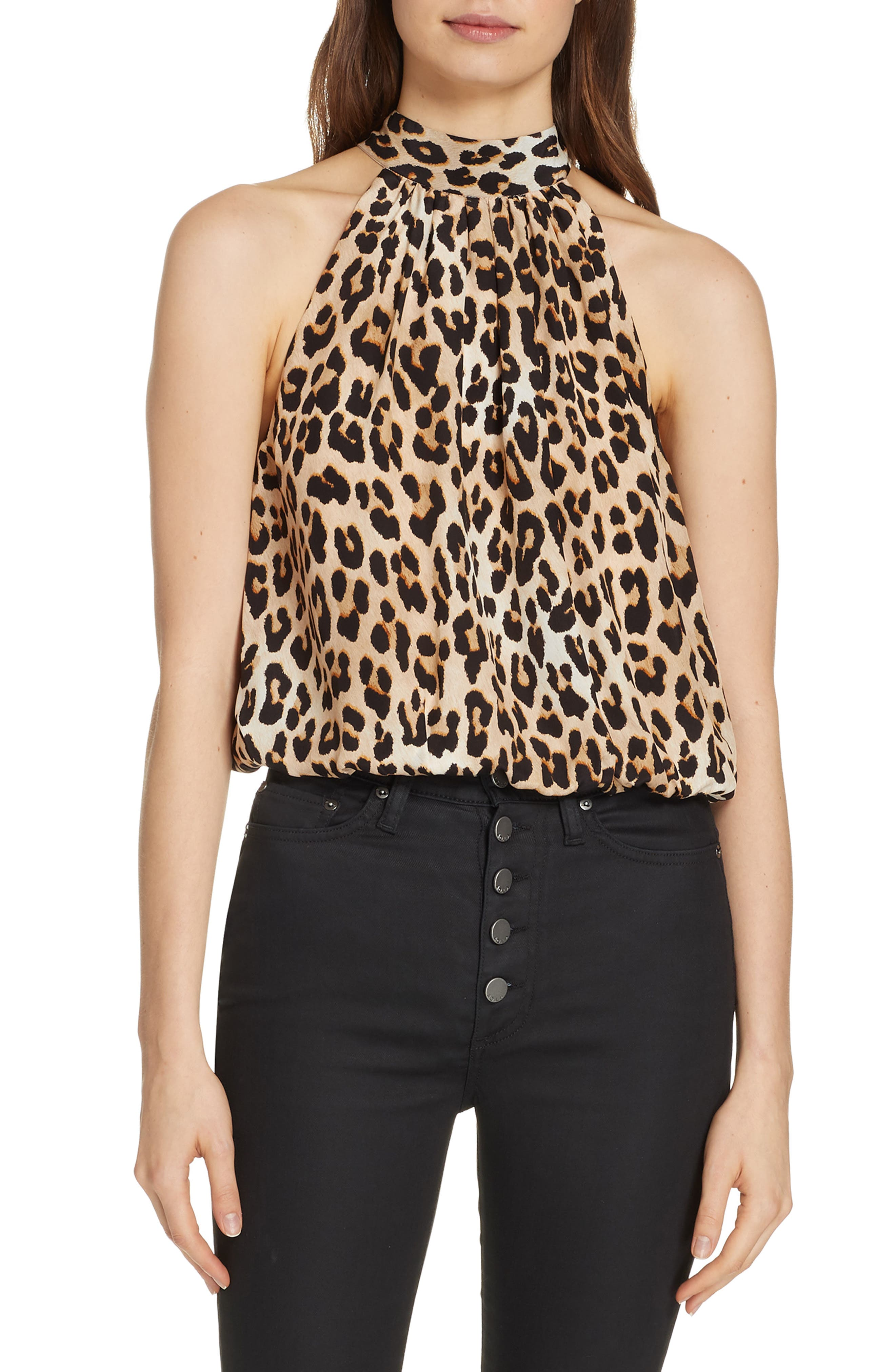 ALICE + OLIVIA, Maris Tie Back Top, Main thumbnail 1, color, 250