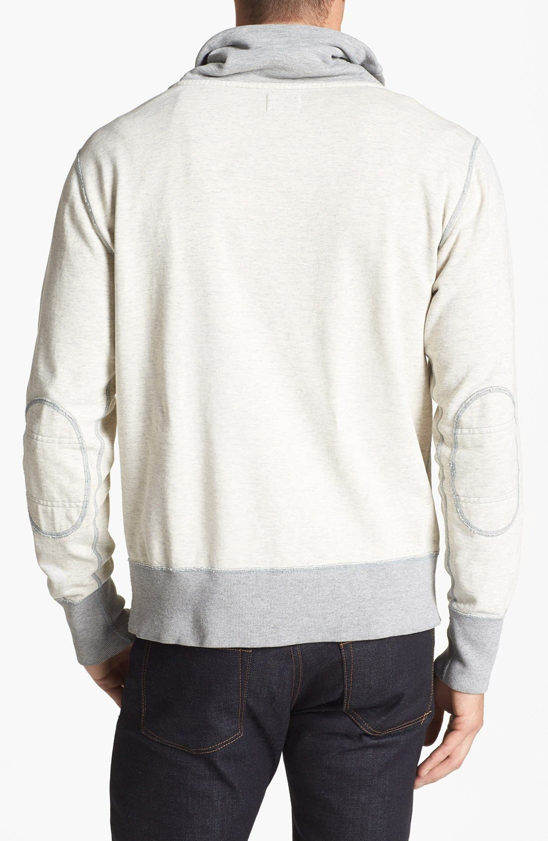 TODD SNYDER + CHAMPION, Shawl Collar Sweatshirt, Alternate thumbnail 3, color, 050