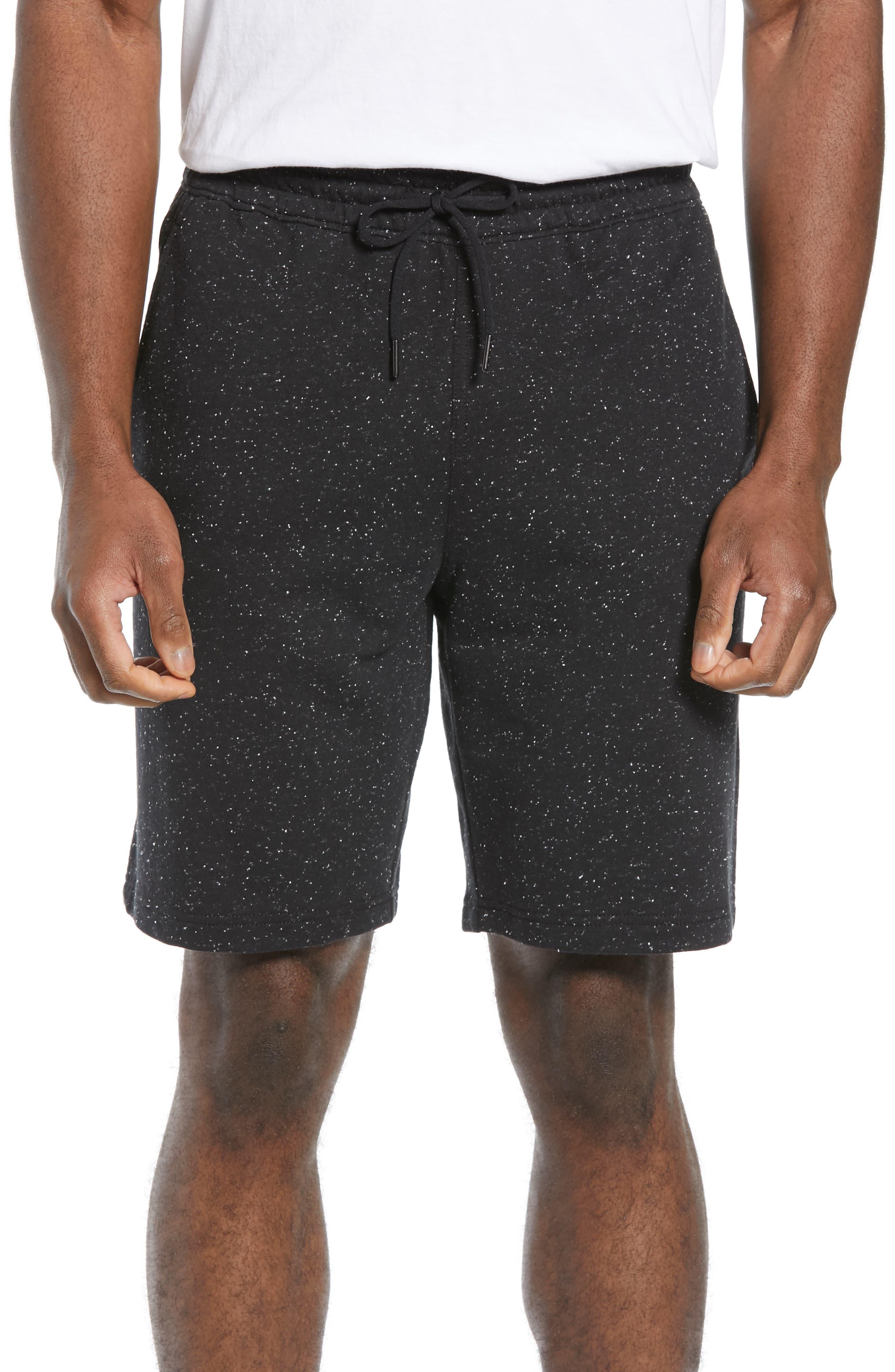 ZELLA, Neppy Fleece Athletic Shorts, Main thumbnail 1, color, 001