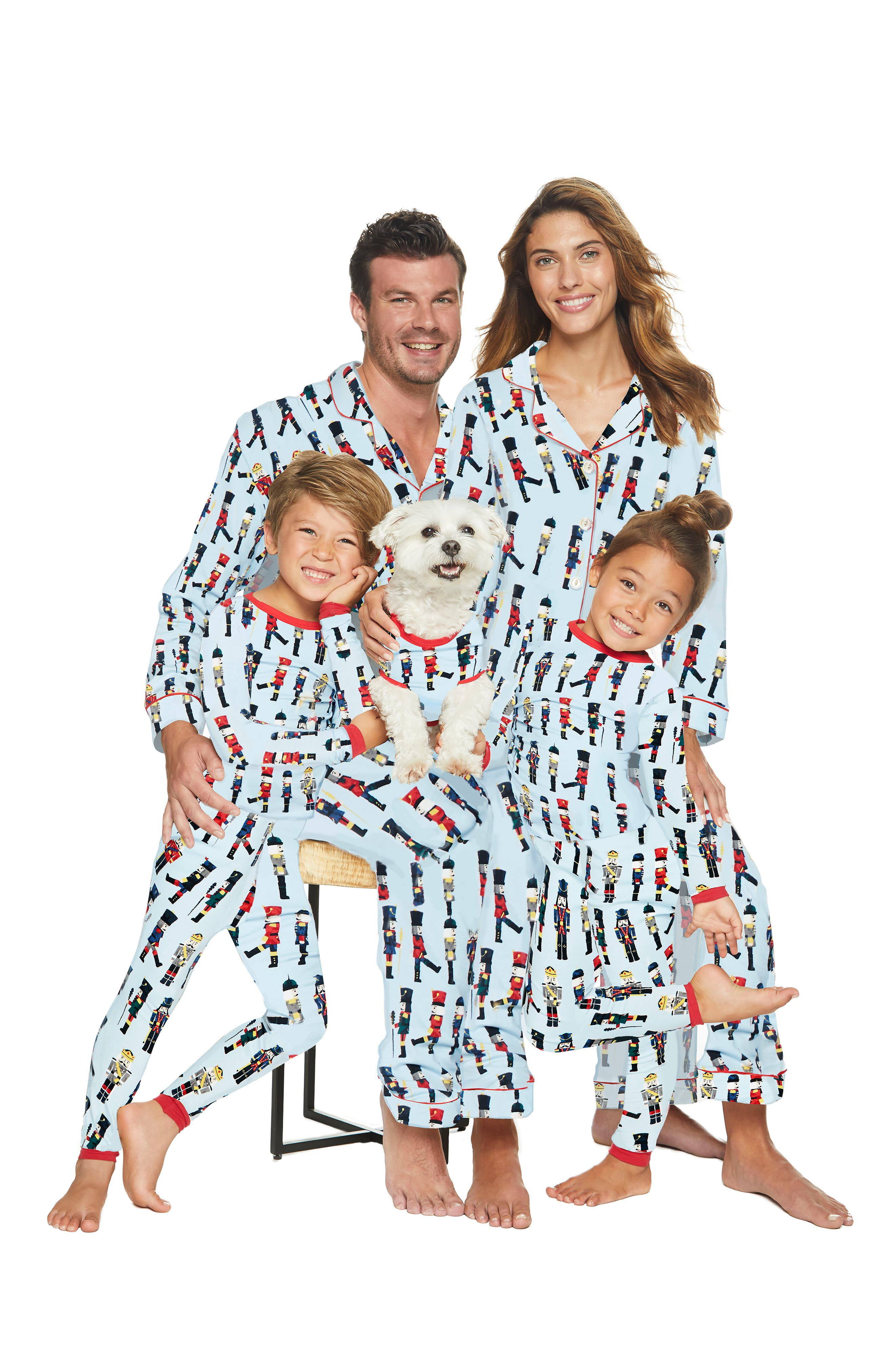 BEDHEAD, Classic Print Pajamas, Alternate thumbnail 3, color, MARCH ON