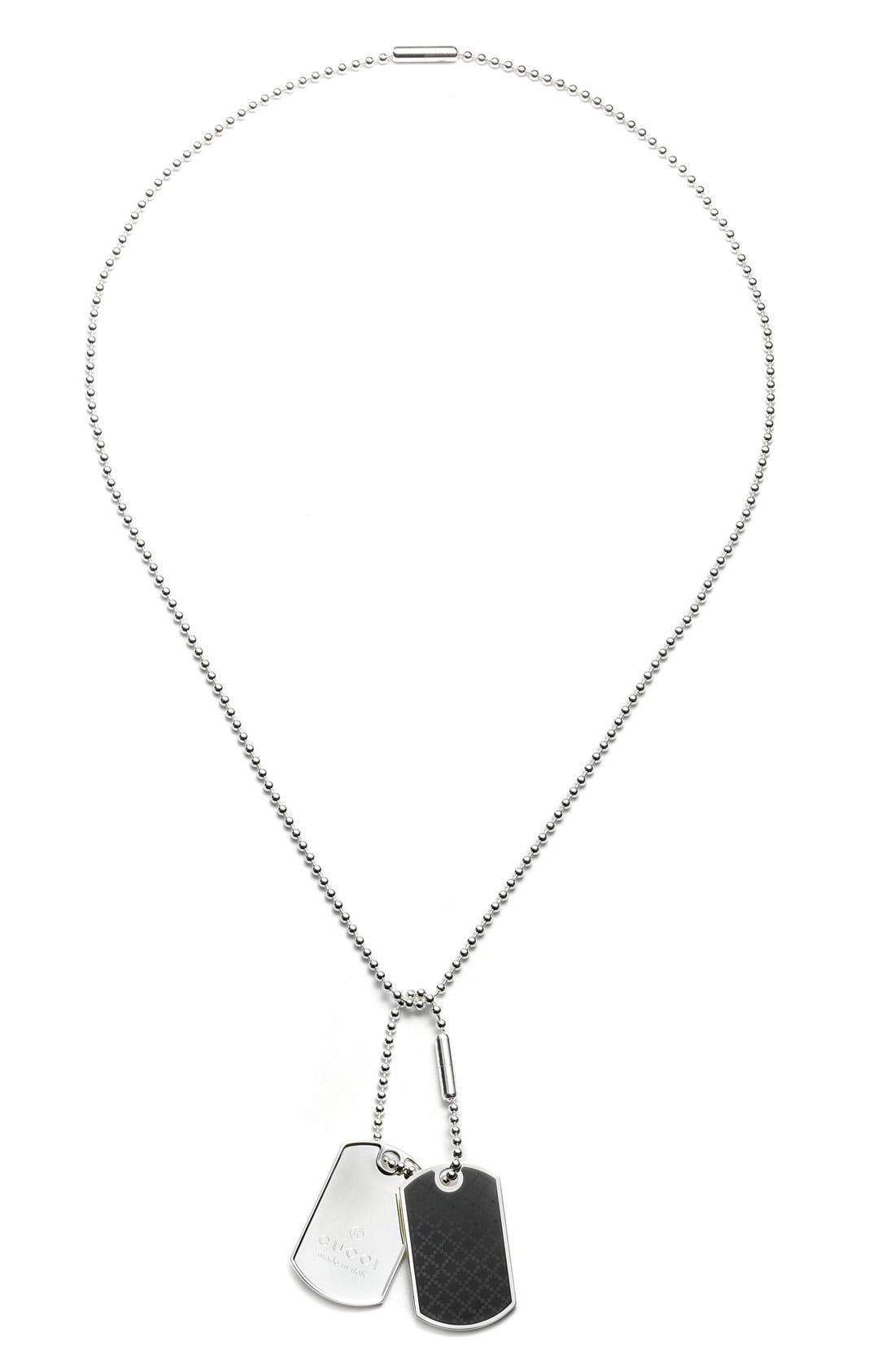 GUCCI Dog Tag Necklace, Main, color, 042