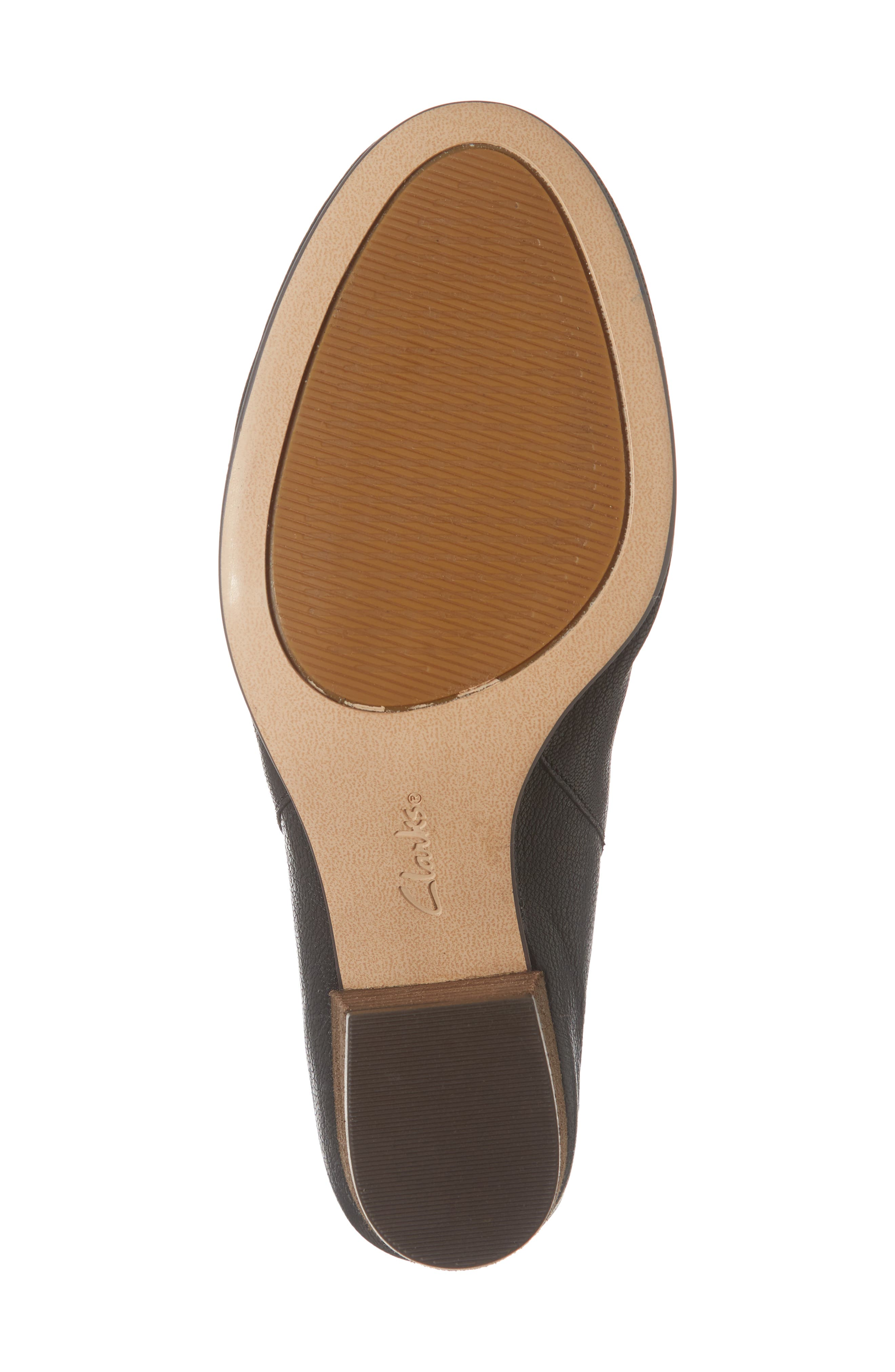 CLARKS<SUP>®</SUP>, Spiced Isla Mule, Alternate thumbnail 6, color, BLACK LEATHER
