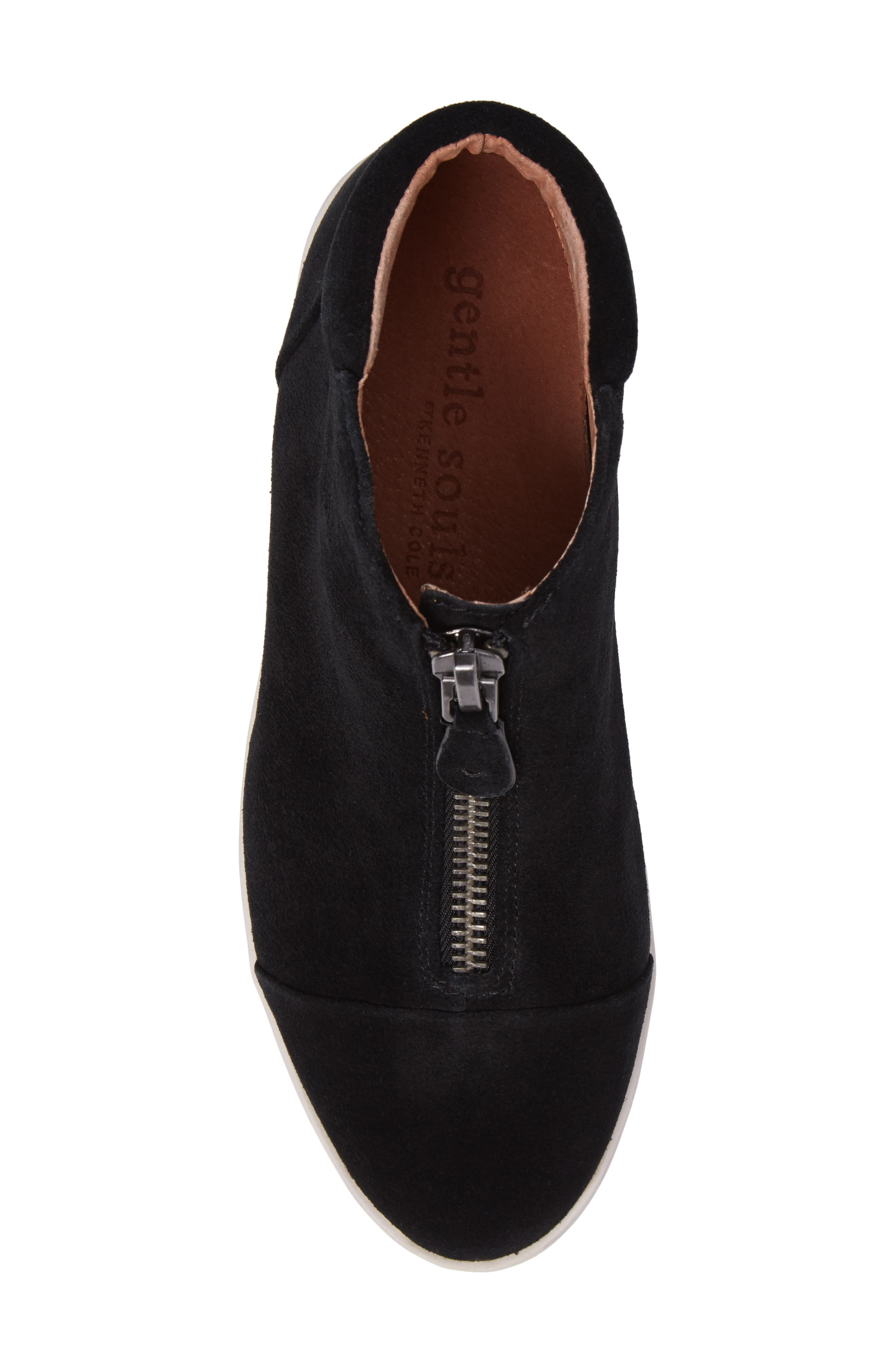 GENTLE SOULS BY KENNETH COLE, Hazel Fay High Top Sneaker, Alternate thumbnail 5, color, BLACK SUEDE