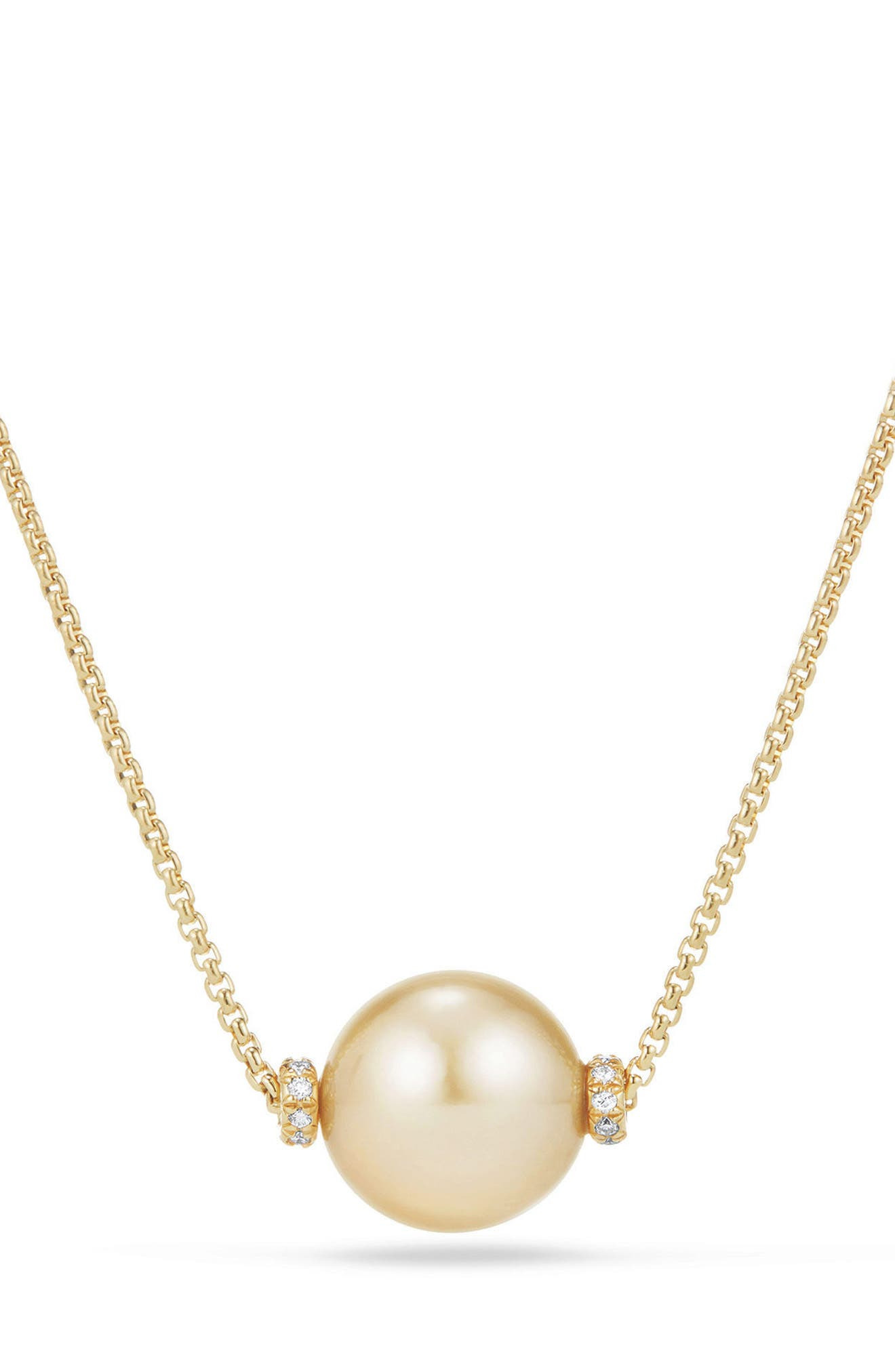 DAVID YURMAN, Solari Pearl Station Necklace, Main thumbnail 1, color, YELLOW GOLD/ SOUTH SEA YELLOW