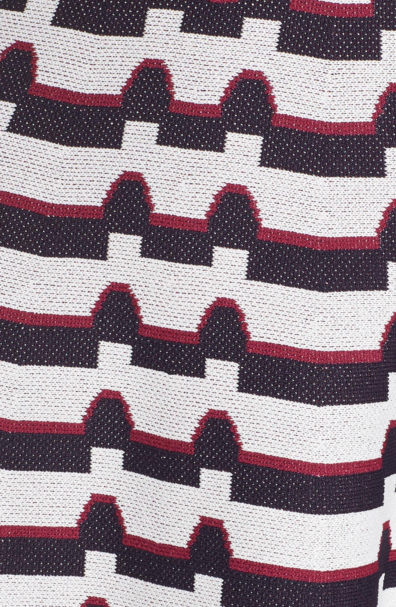 ELIZA J, Artwork Jacquard Sweater Dress, Alternate thumbnail 6, color, 410