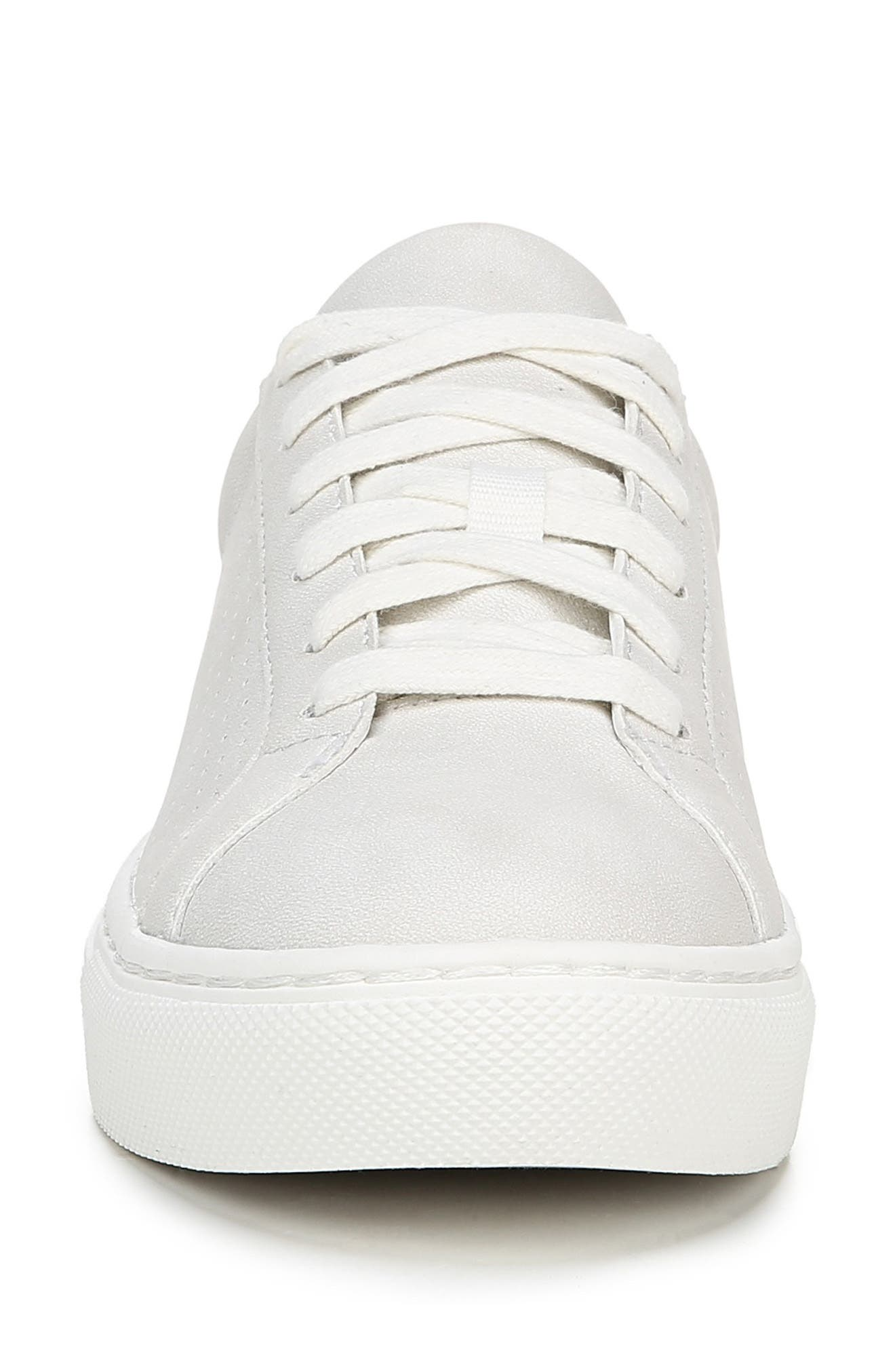 DR. SCHOLL'S, No Bad Vibes Sneaker, Alternate thumbnail 3, color, WHITE FAUX LEATHER