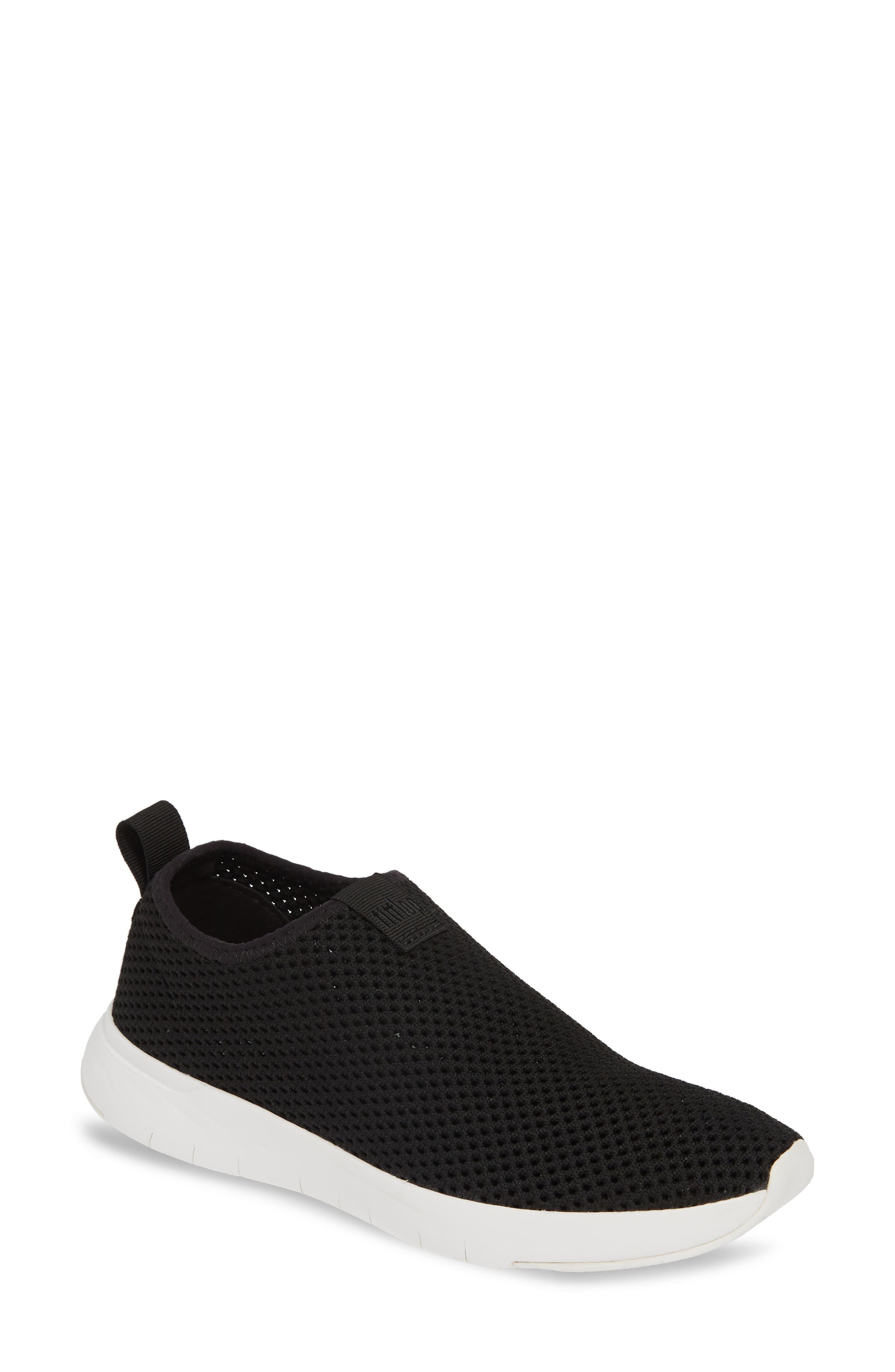 FITFLOP, Airmesh Slip-On Sneaker, Main thumbnail 1, color, BLACK