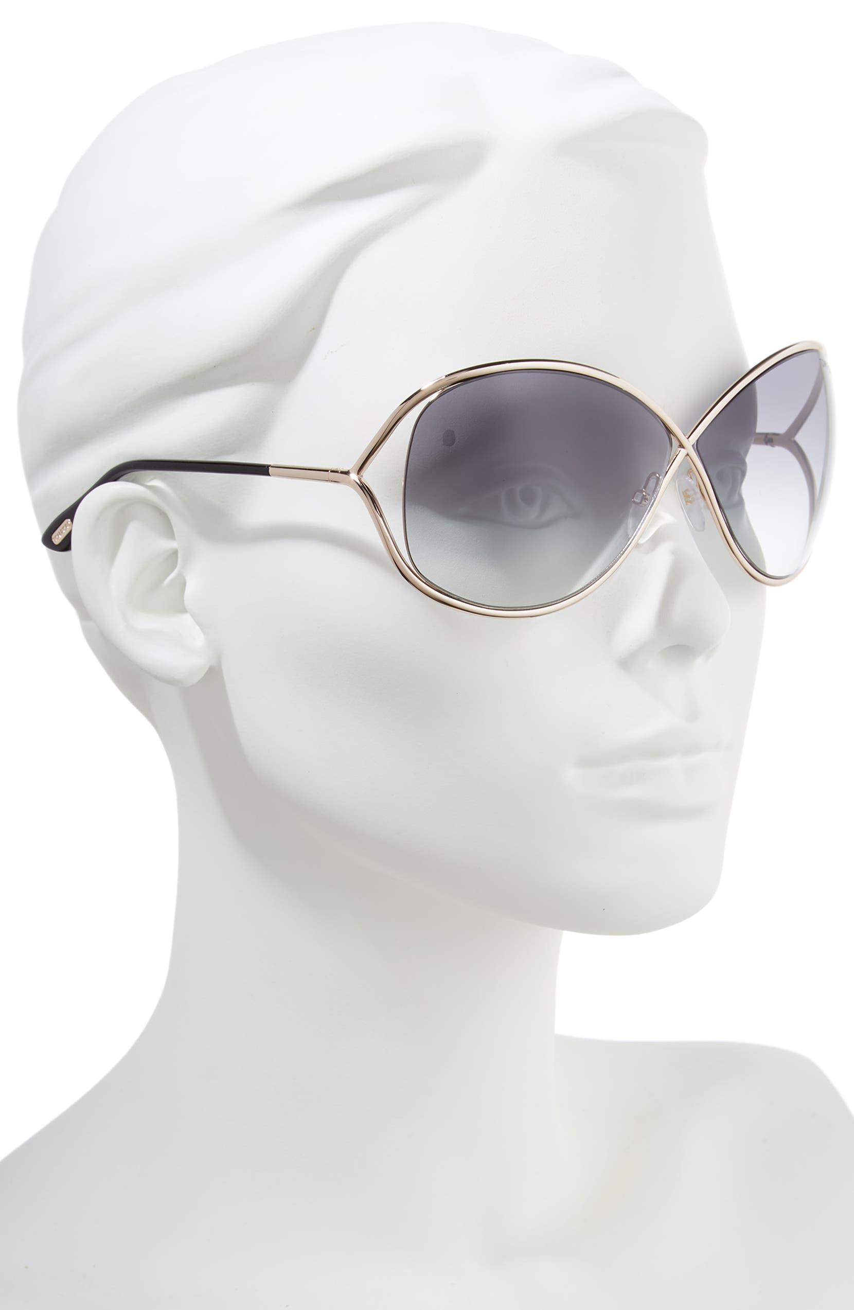 5c235f5699a8 Tom Ford Miranda 68mm Open Temple Oversize Metal Sunglasses