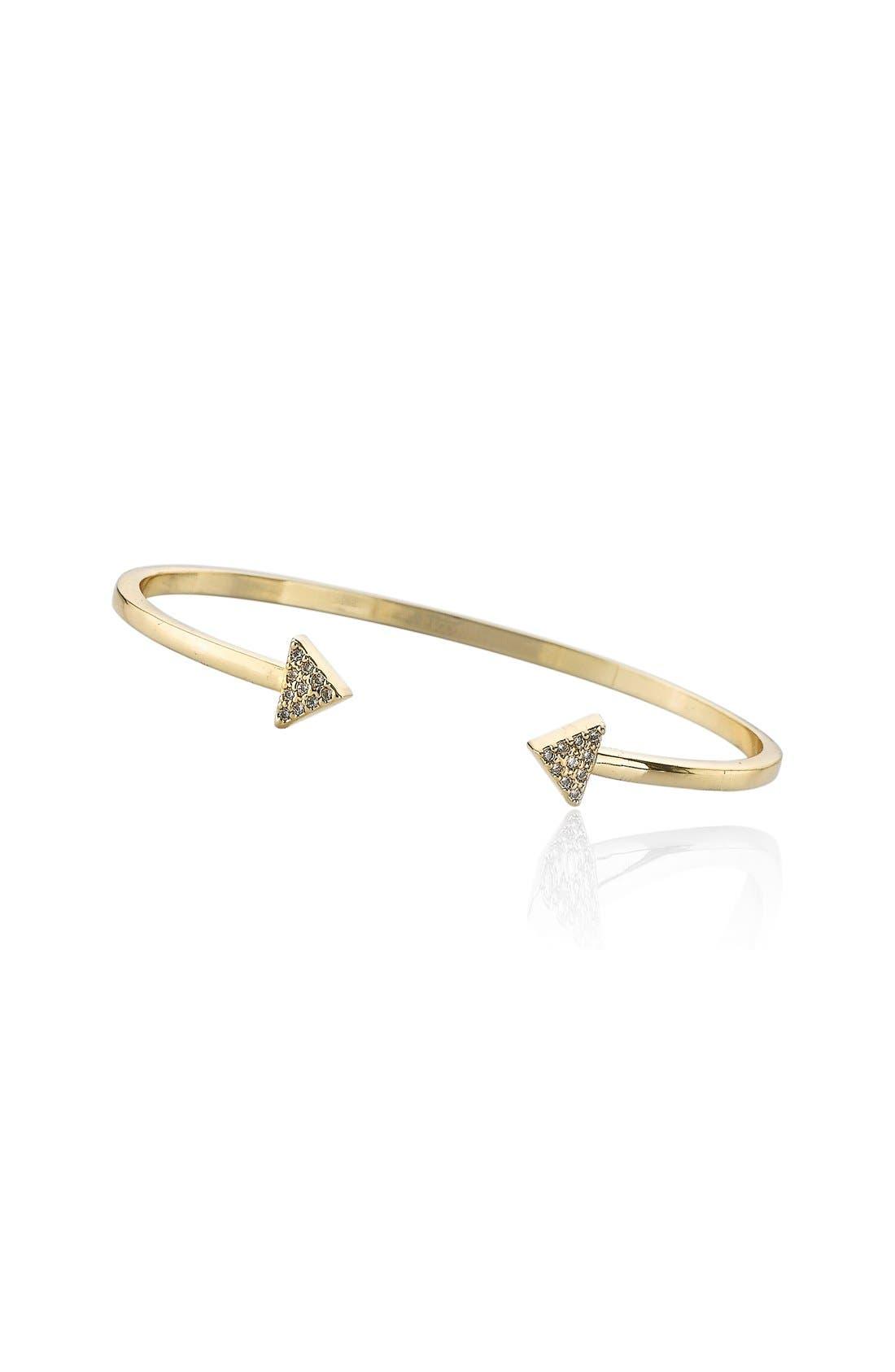 RICCOVA Triangle Cuff Bracelet, Main, color, 710