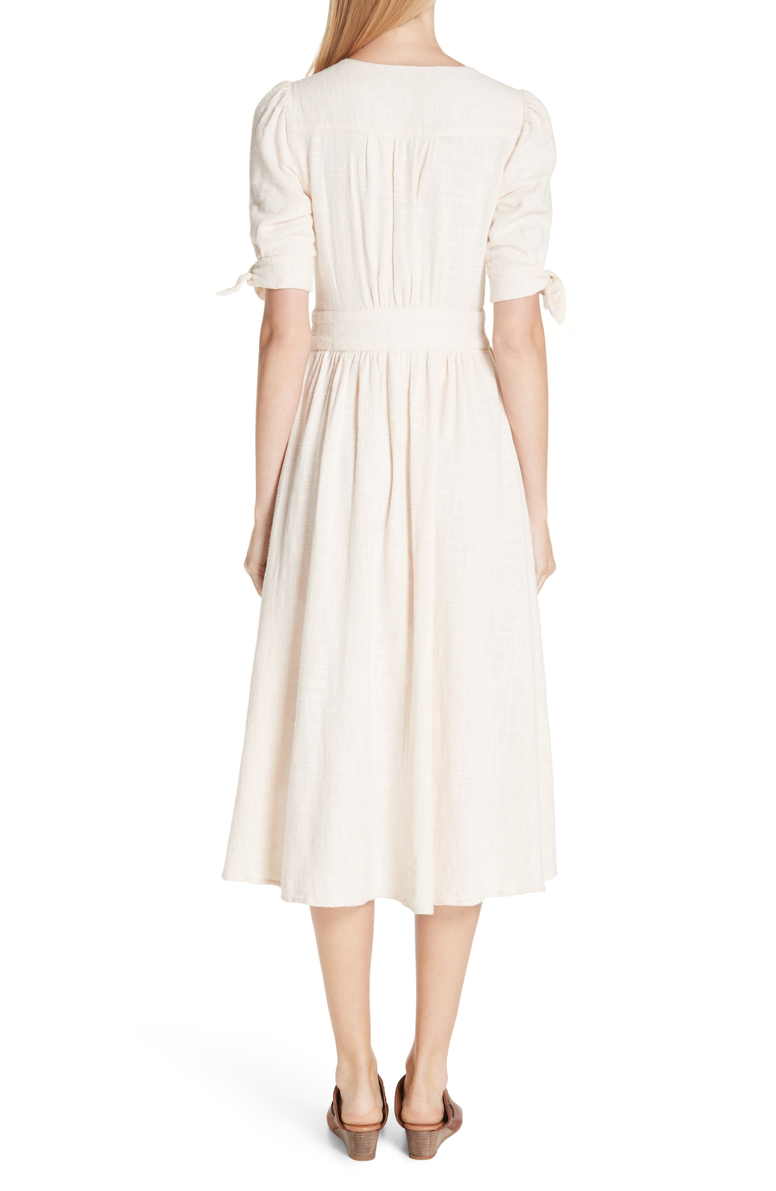 FREE PEOPLE, Love of My Life Midi Dress, Alternate thumbnail 2, color, IVORY
