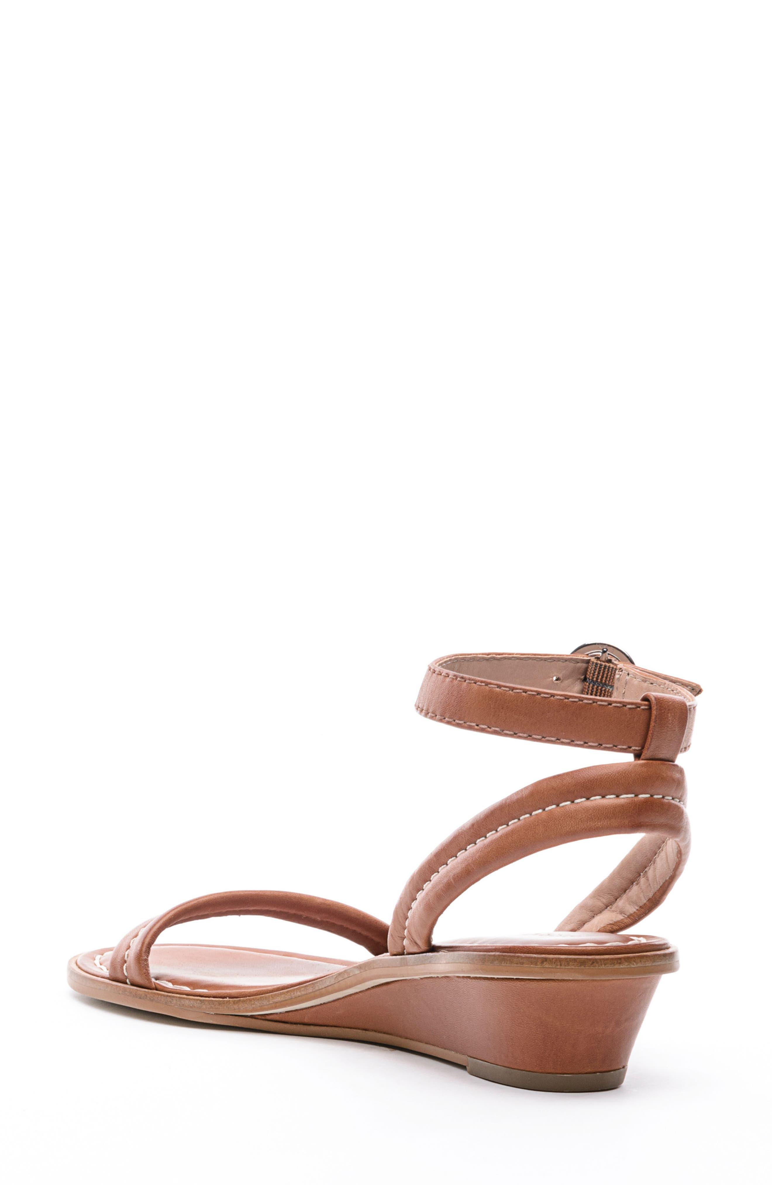 BERNARDO, Catherine Ankle Strap Sandal, Alternate thumbnail 2, color, LUGGAGE BROWN ANTIQUE
