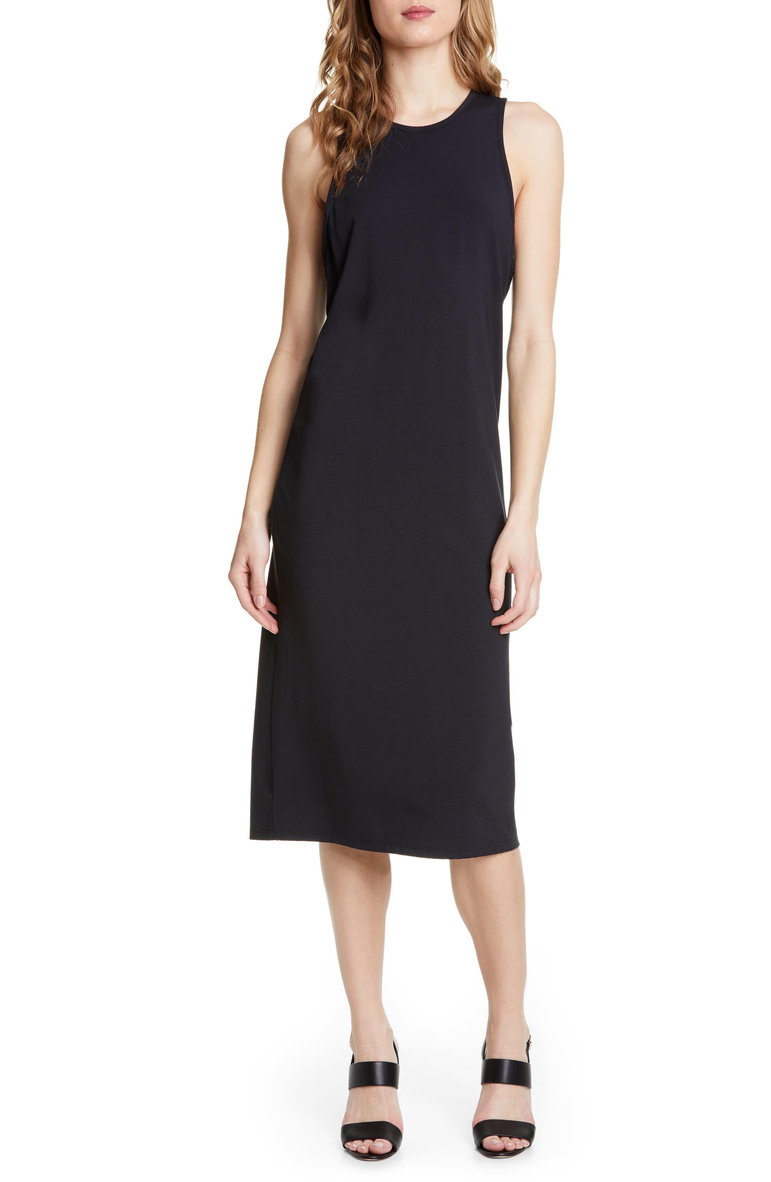 Joie Mikaya Stretch Cotton Blend Tank Dress, Black