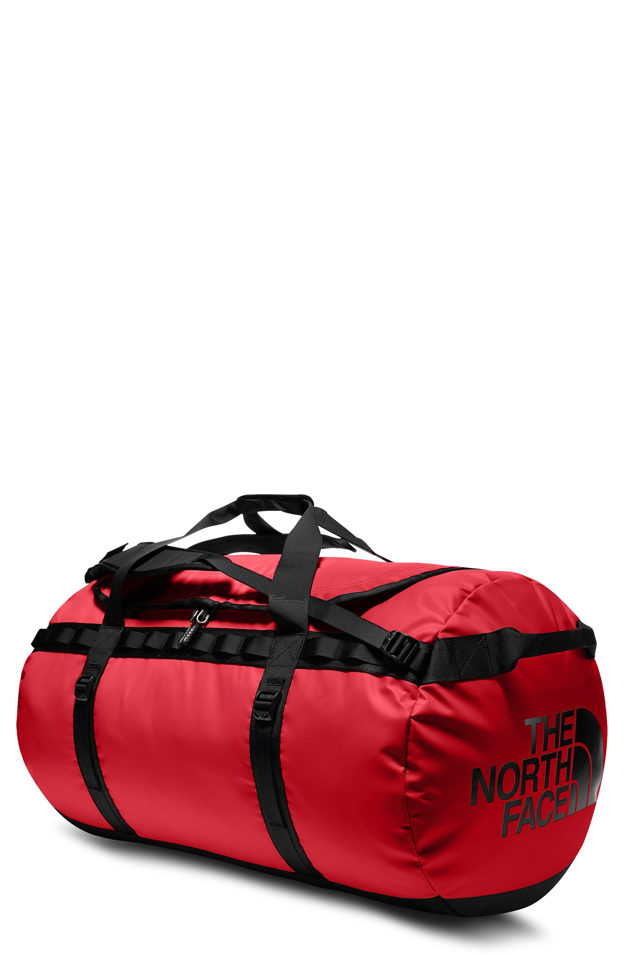 THE NORTH FACE, Base Camp XL Duffle Bag, Main thumbnail 1, color, RED/ BLACK
