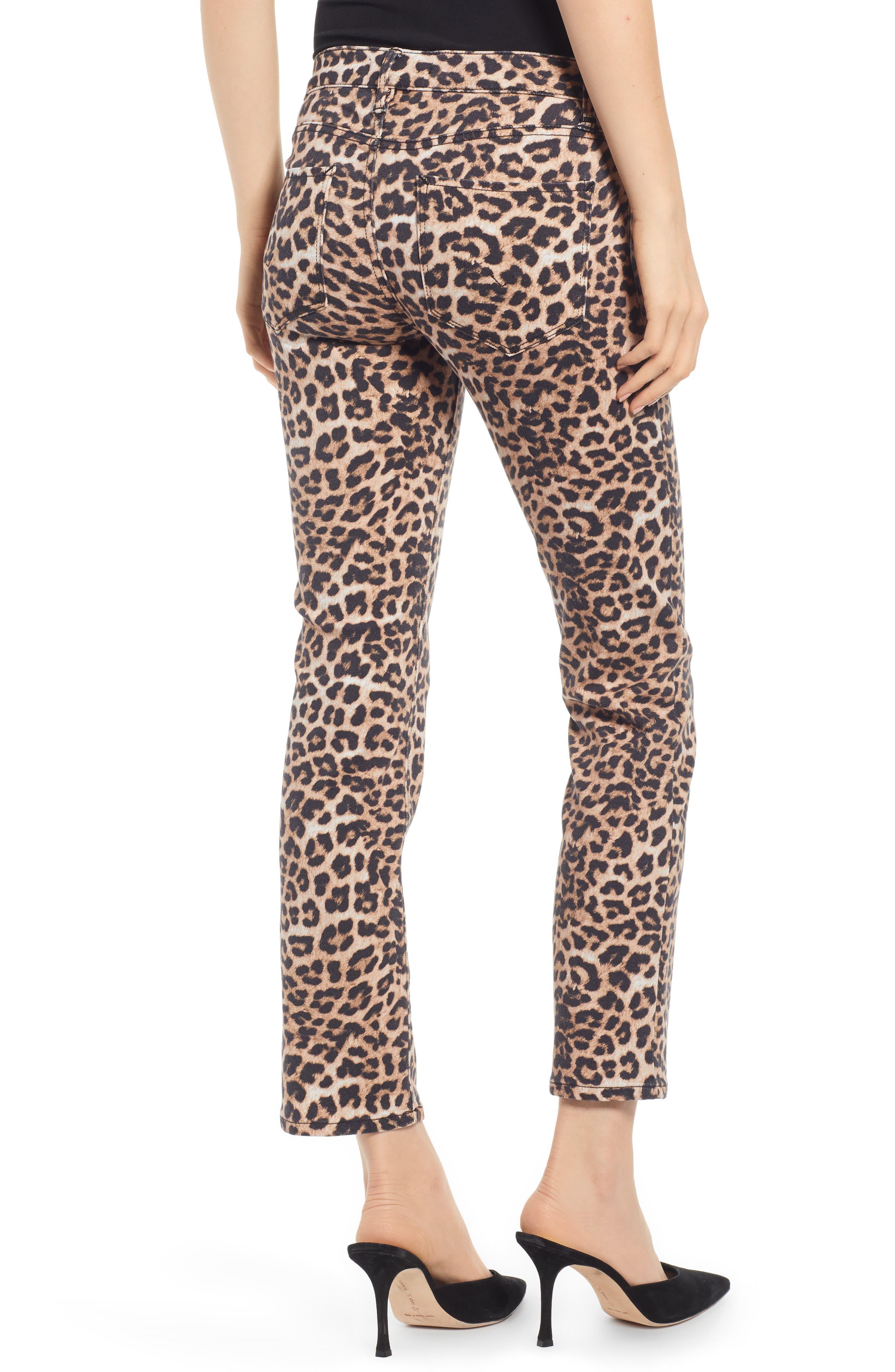 HUDSON JEANS, Hudson Ankle Straight Leg Jeans, Alternate thumbnail 4, color, CLASSIC LEOPARD