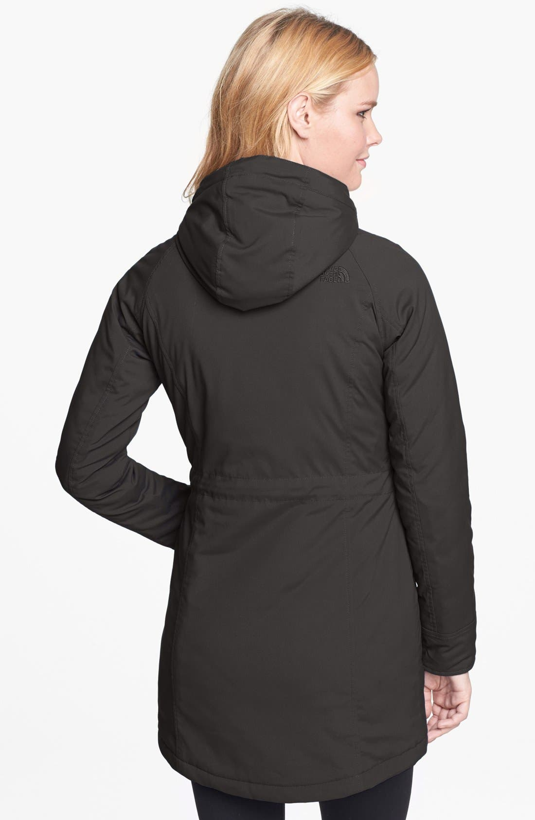 THE NORTH FACE, 'Lola' Soft Shell Trench Coat, Alternate thumbnail 2, color, 001